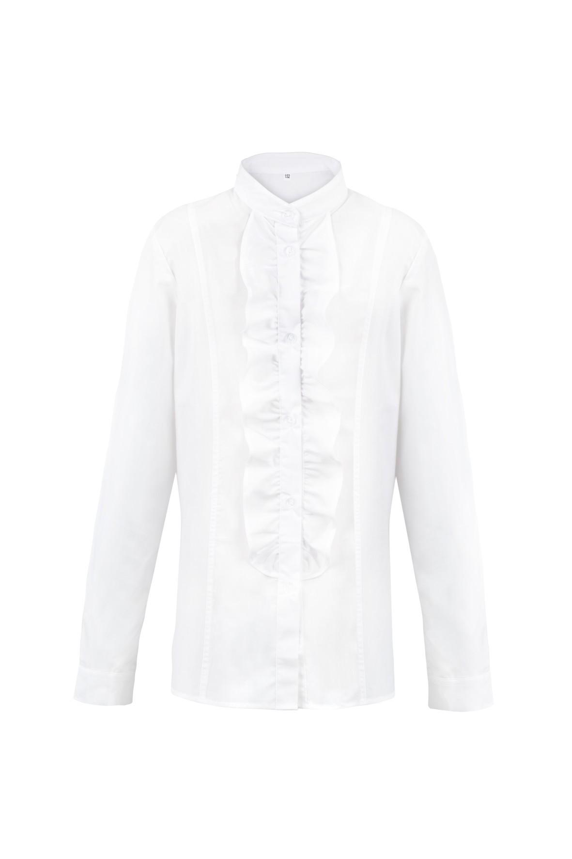 Dziewczęca koszula biała z żabotem