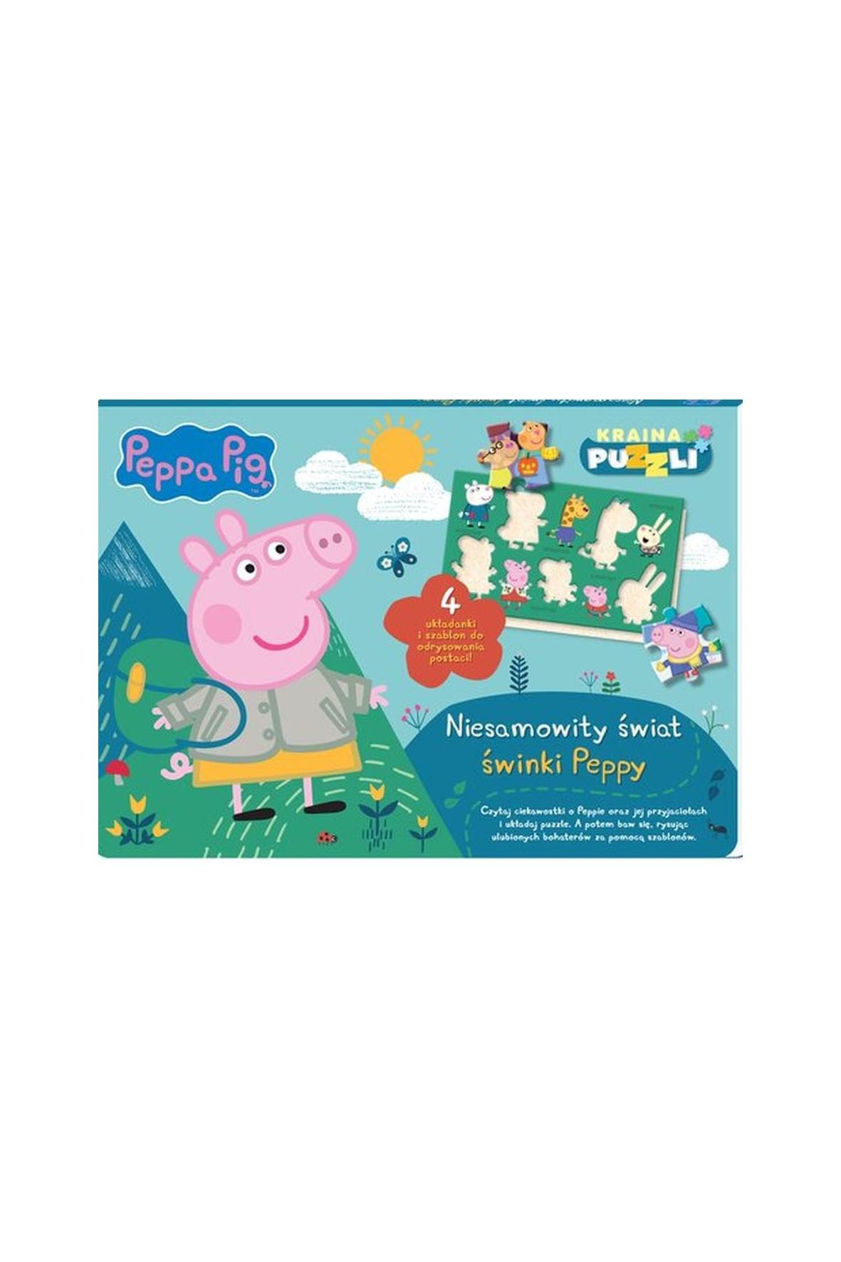 Książeczka Świnka Pepa. Kraina puzzli. Niesamowity świat świnki Peppy.