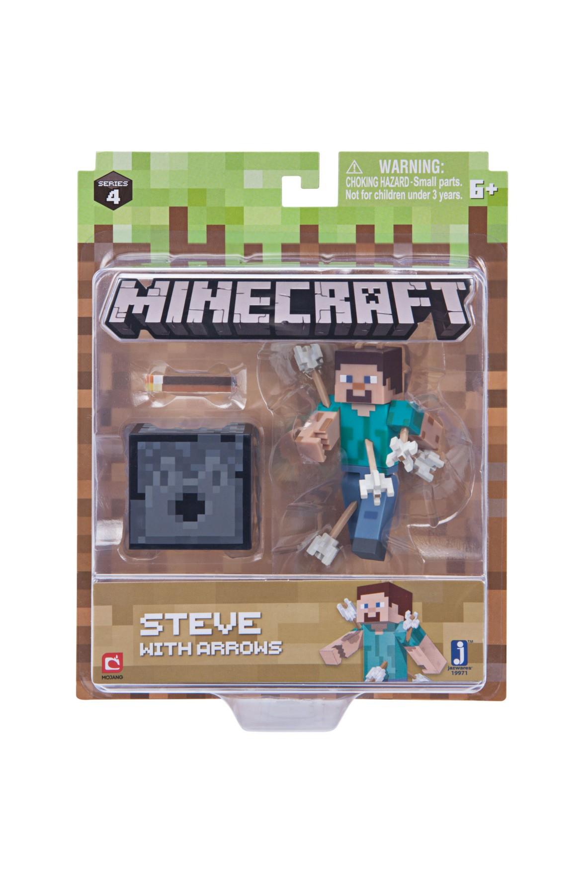 Steve ze strzałami Minecraft