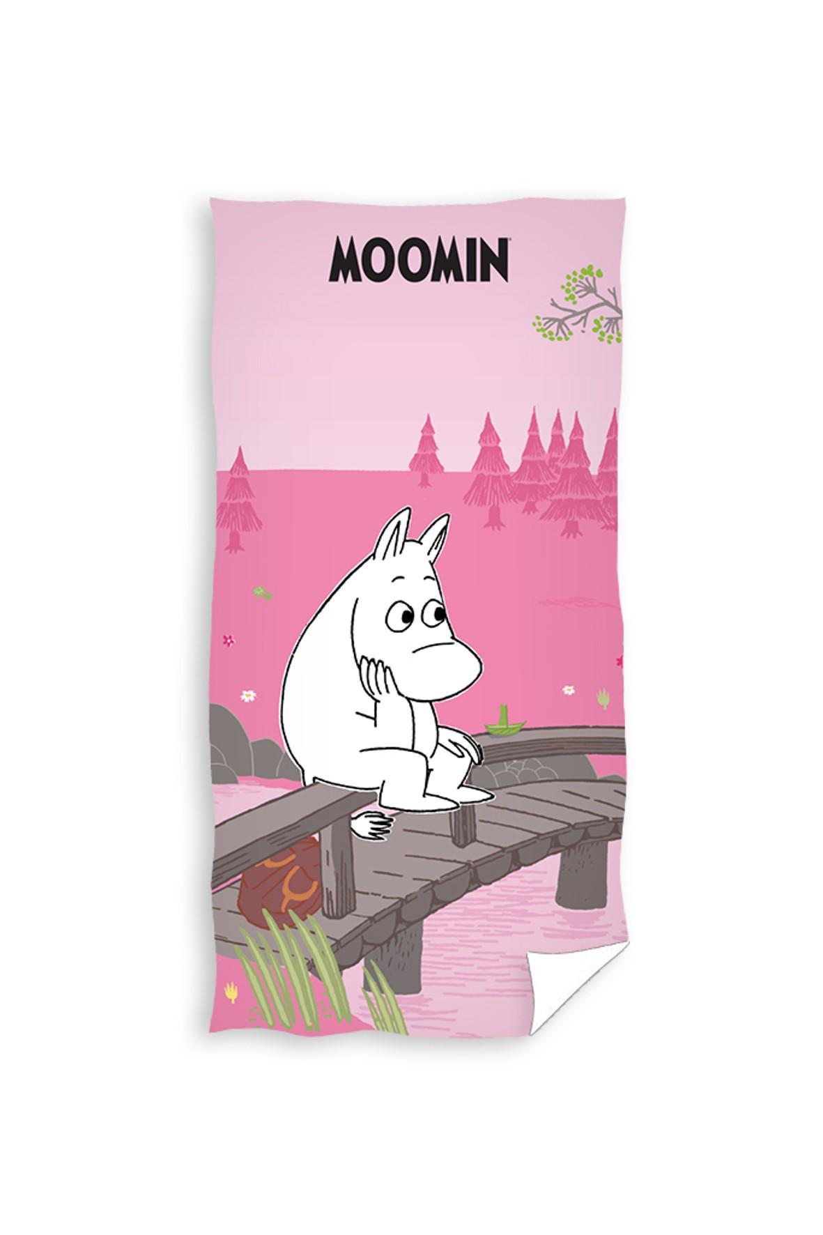 Bawełniany ręcznik kąpielowy Muminki 70x140 cm