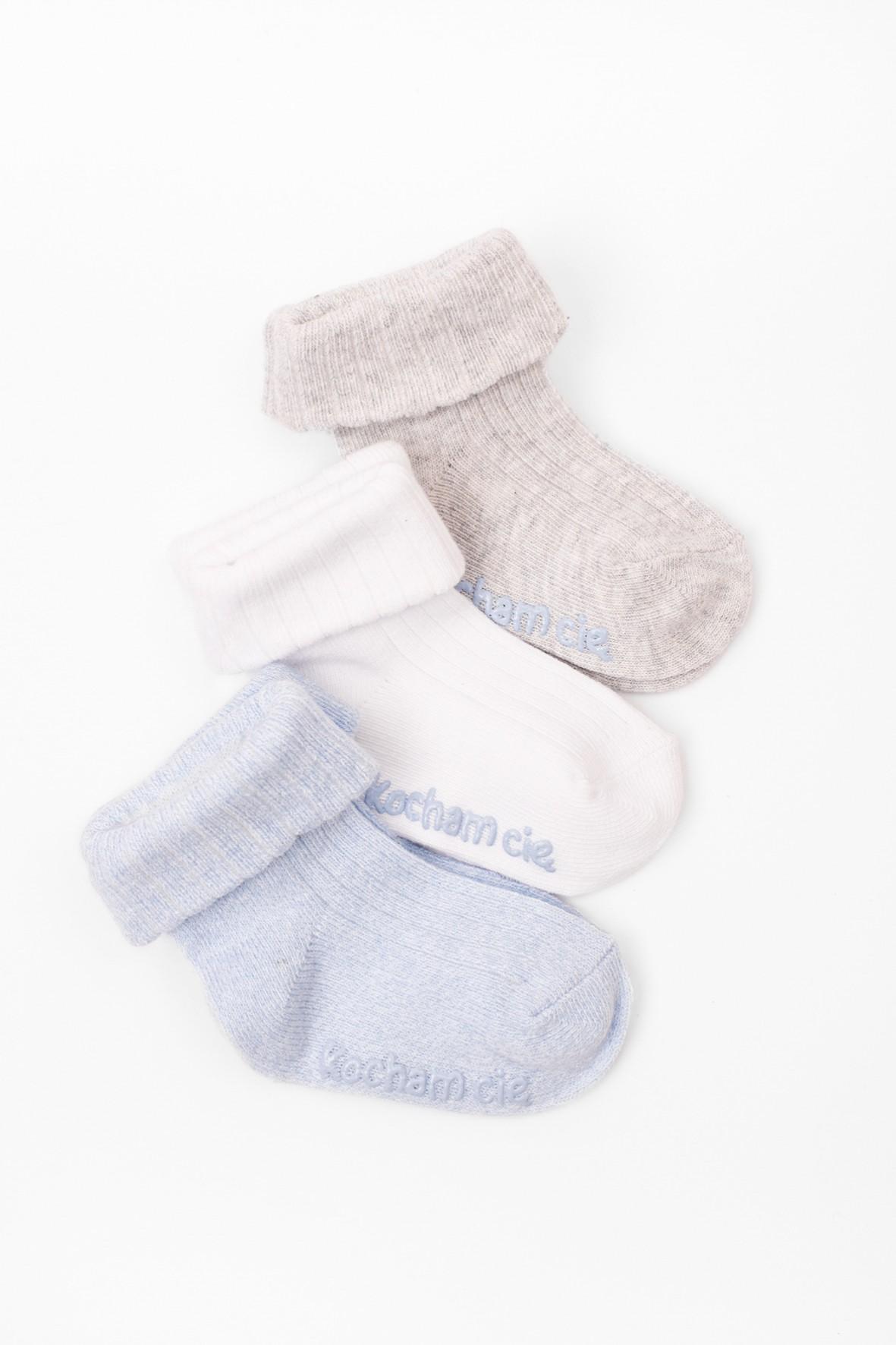 Skarpety niemowlęce- Kocham Cię 3-pak