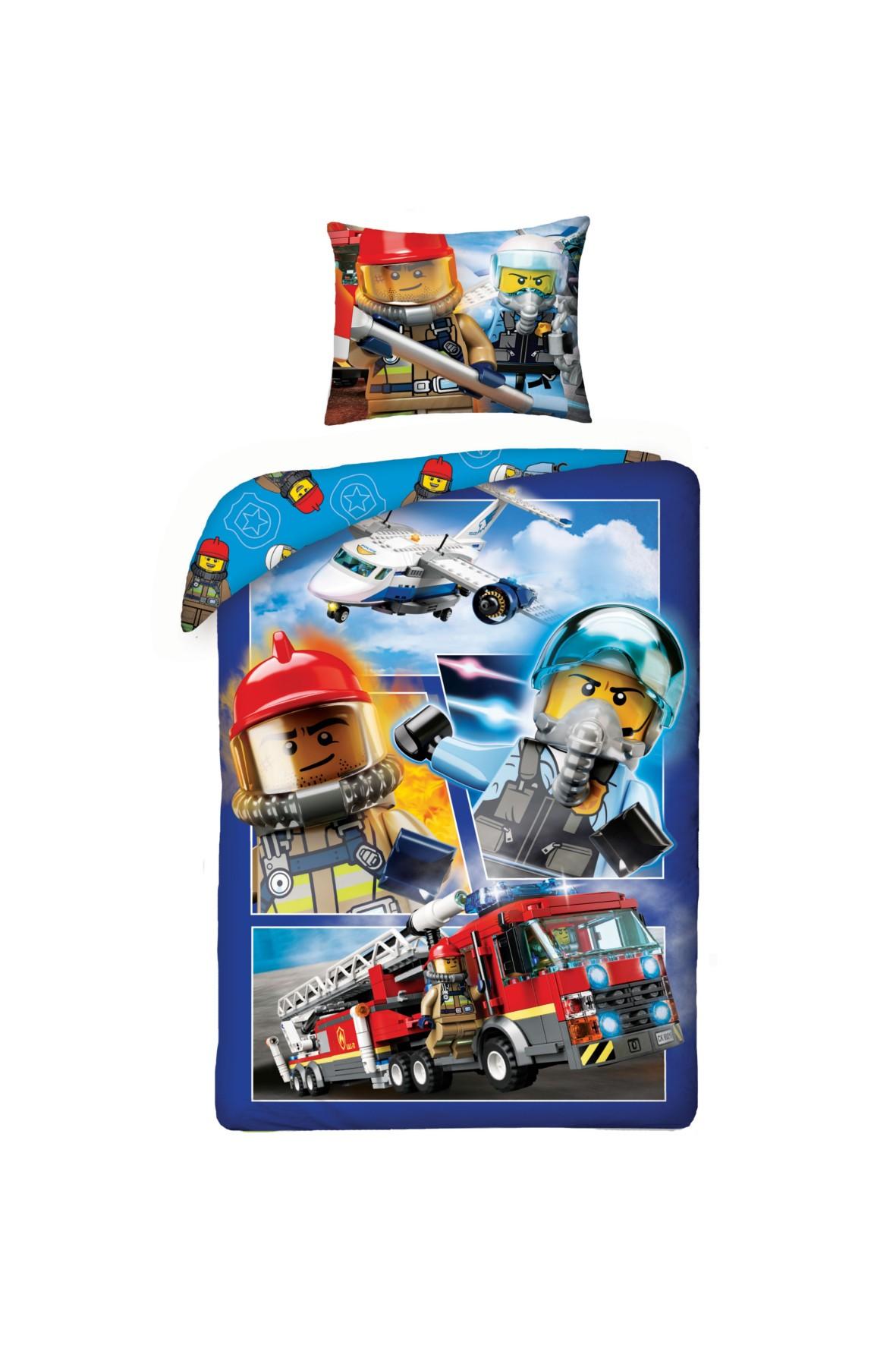 Pościel chłopięca Lego City 140x200cm+70x90cm