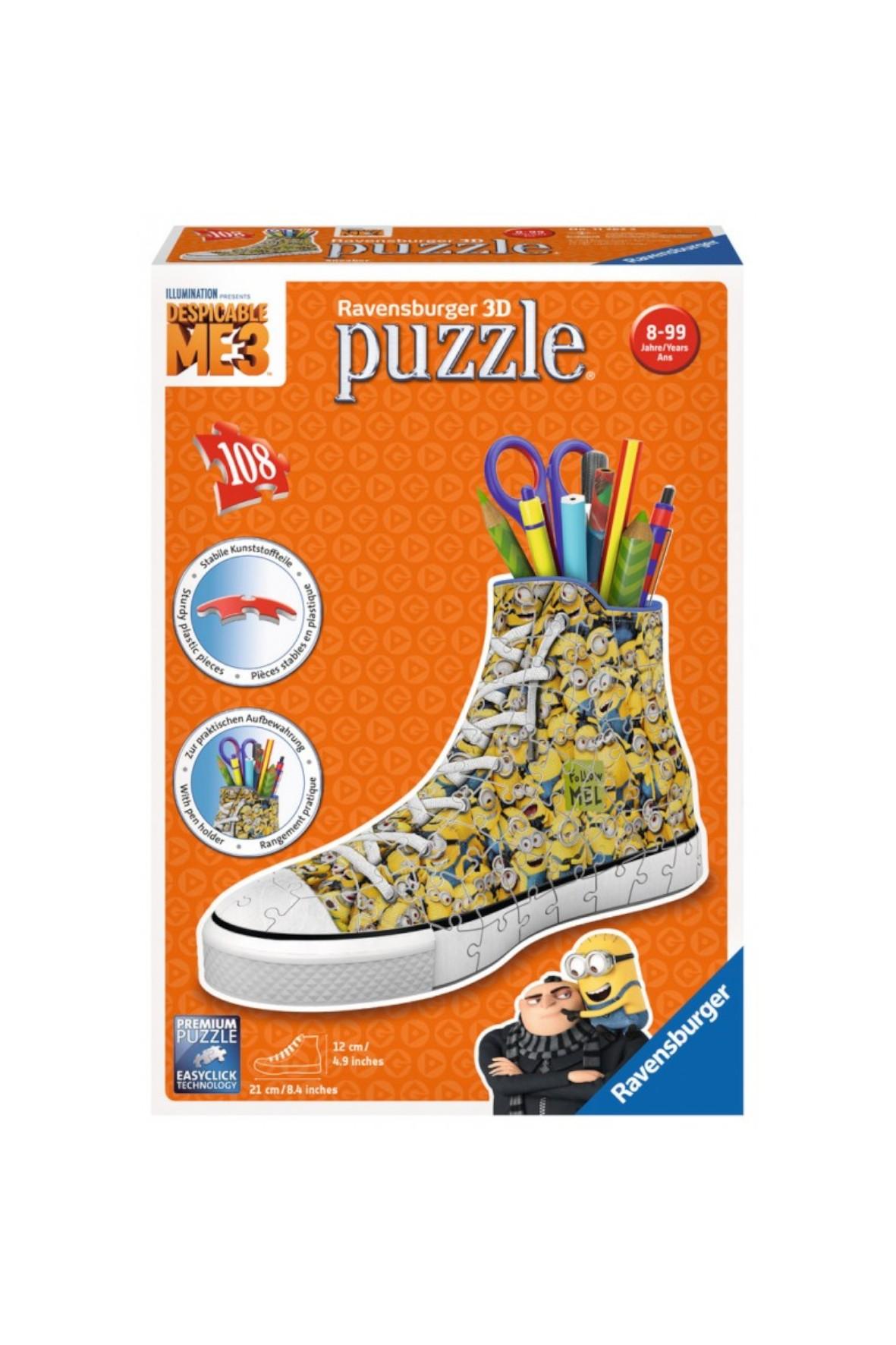 Puzzle 3D Sneaker Minionki 108el.