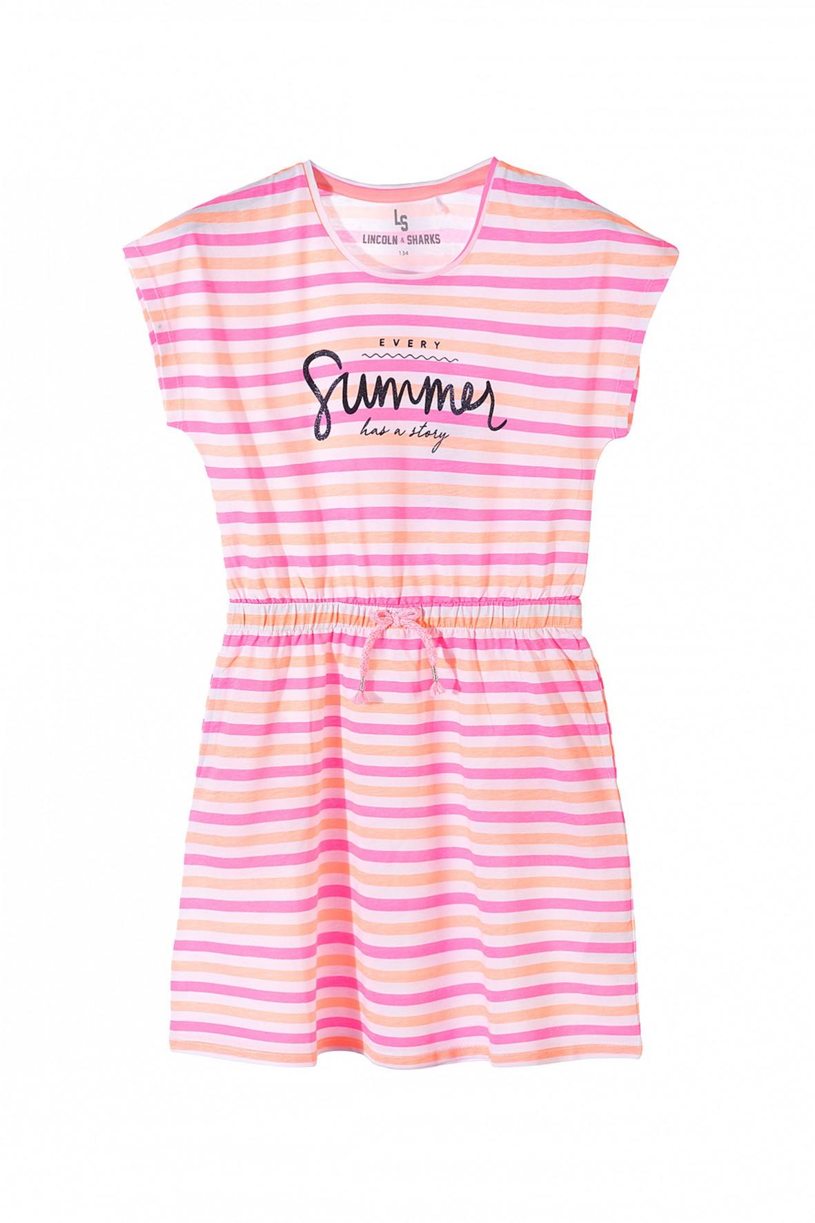 Sukienka dziewczęca w paski-Summer
