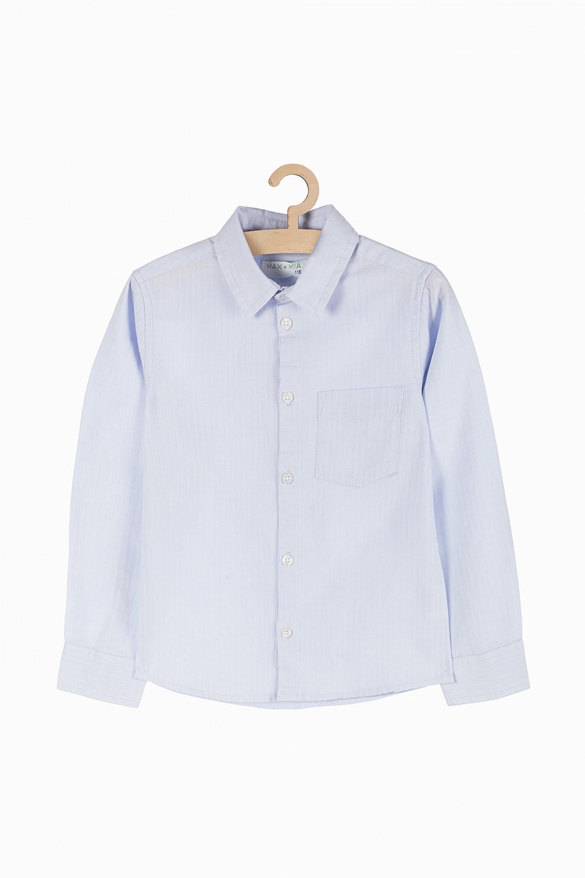 Koszula z długim rękawem - niebieska