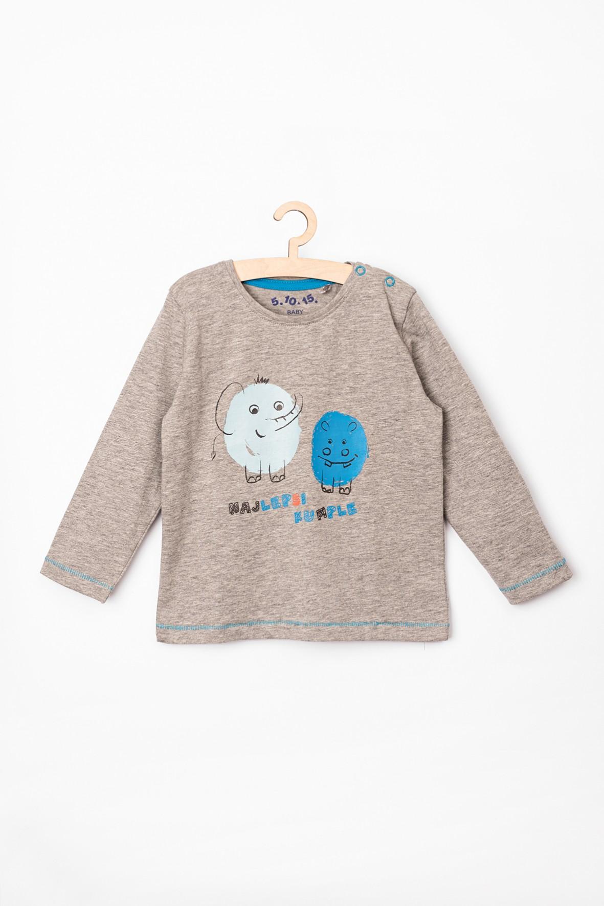 Bluzka niemowlęca szara z nadrukiem