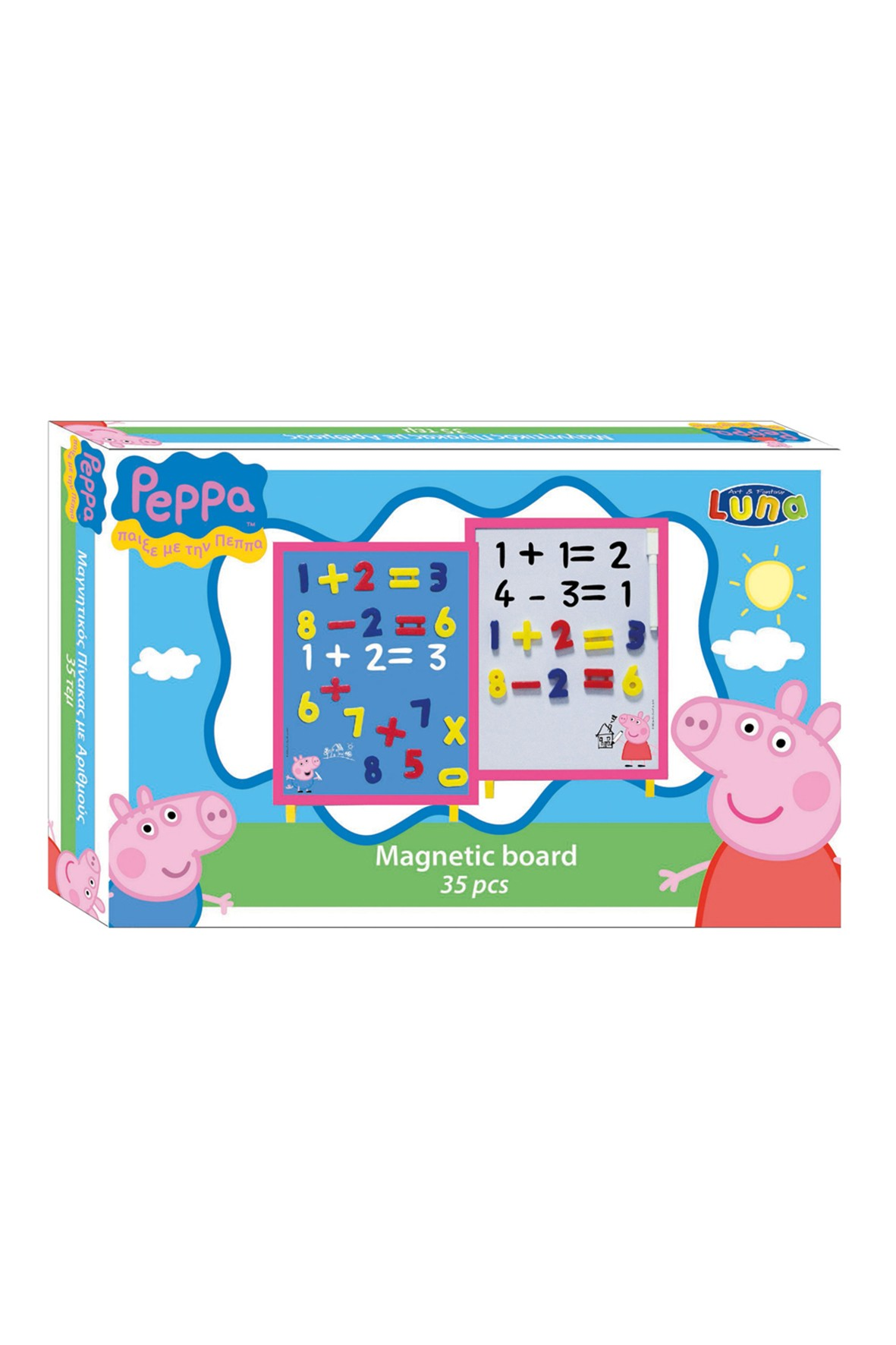 Tablica magnetyczna z cyferkami  Świnka Peppa