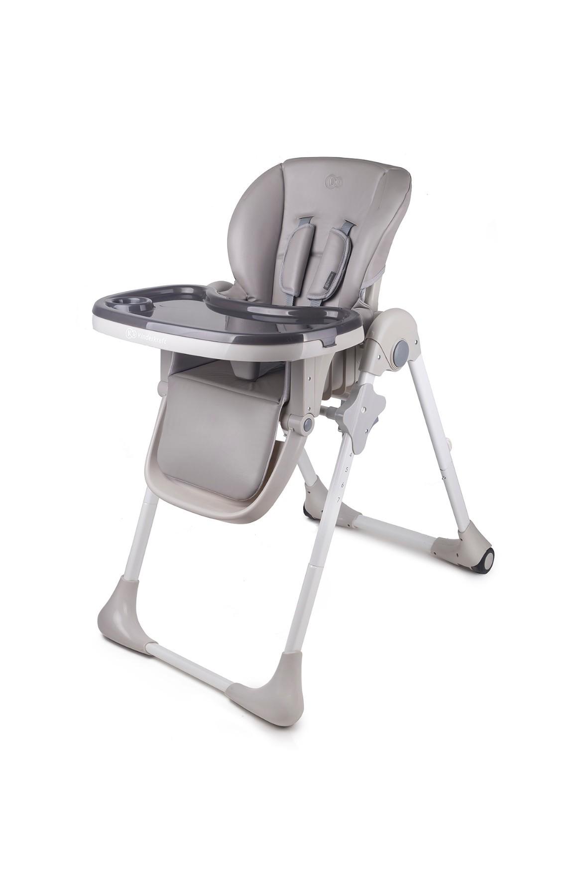 Krzesełko do karmienia Kinderkraft- szare