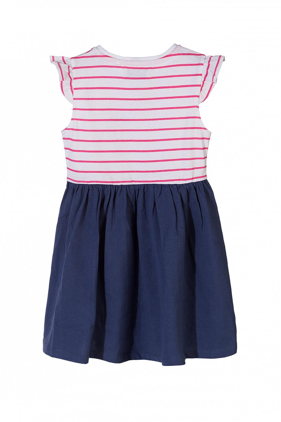 79082e5cff ... Bawełniana sukienka dla dziewczynki z ozdobnymi nadrukami