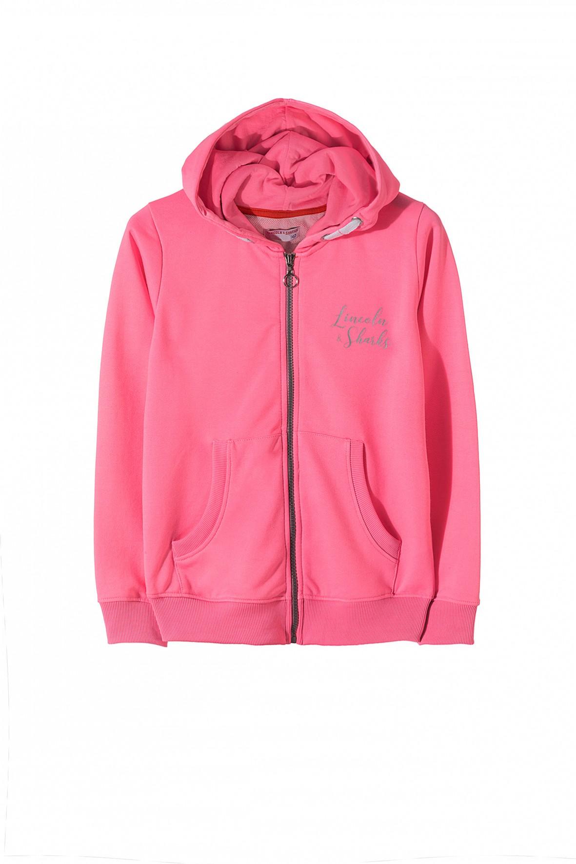 różowa rozpinana bluza stylizacje