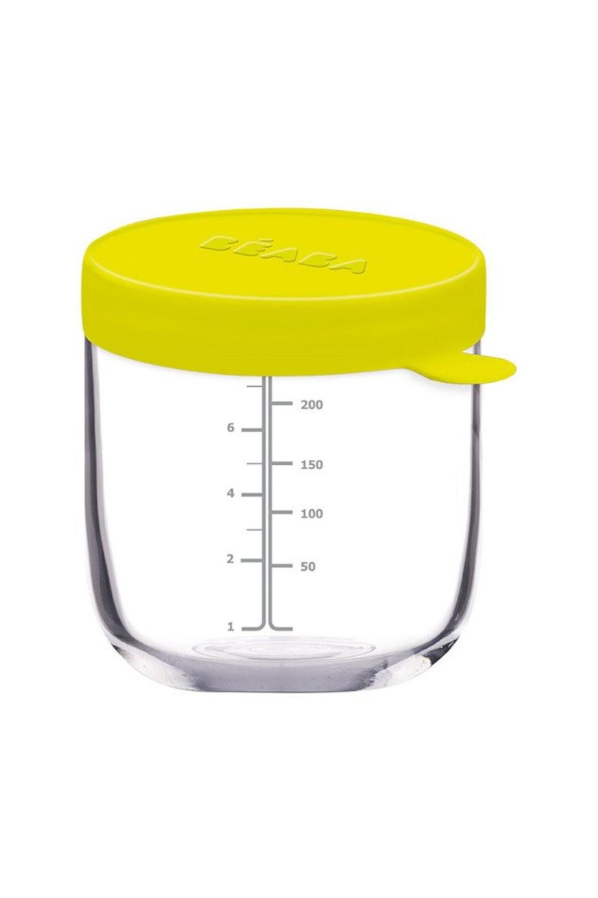 Pojemnik słoiczek szklany z hermetycznym zamknięciem 250 ml zielony Beaba