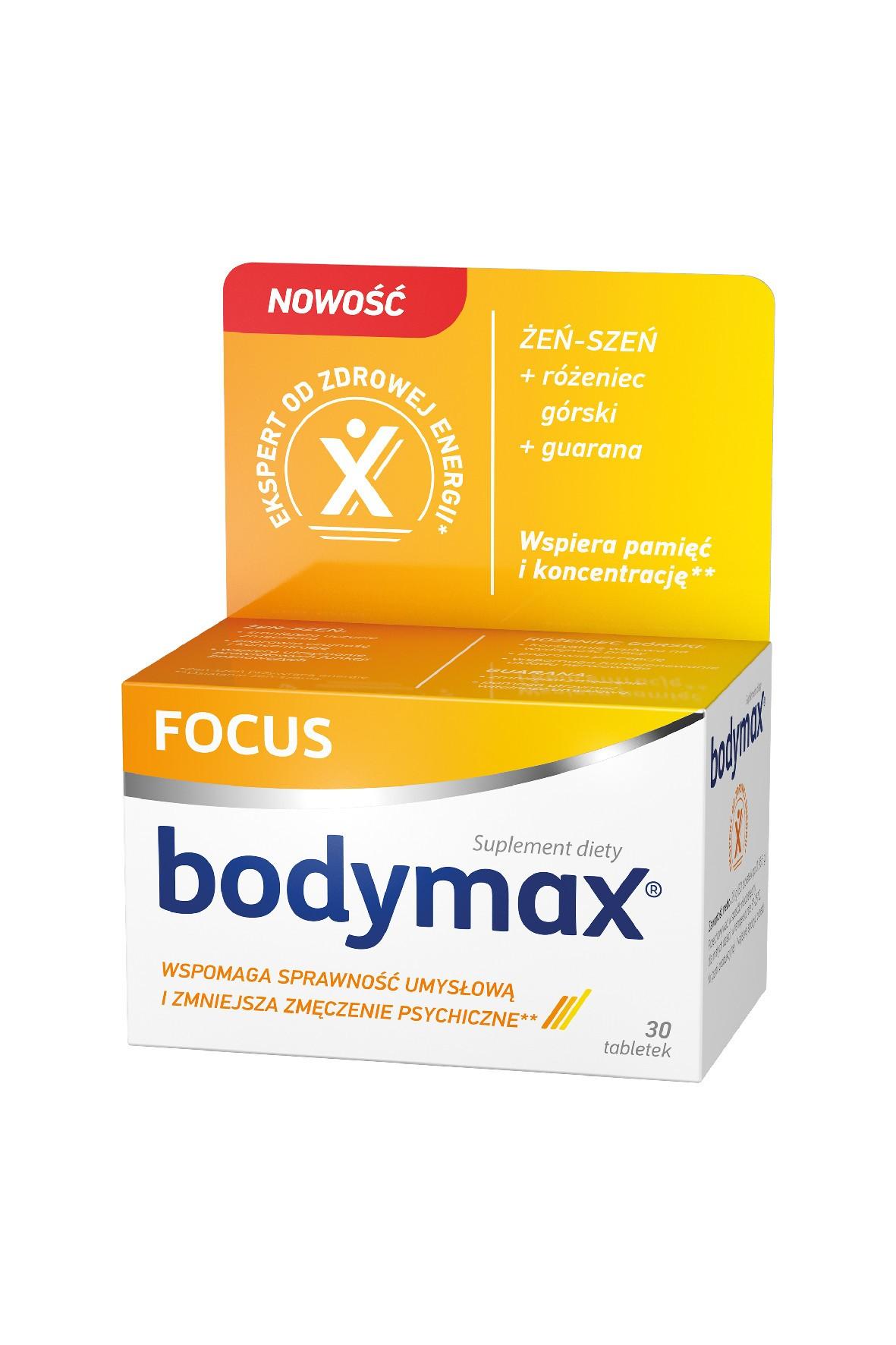 Bodymax FOCUS na pamięć i koncentrację 30 tabletek