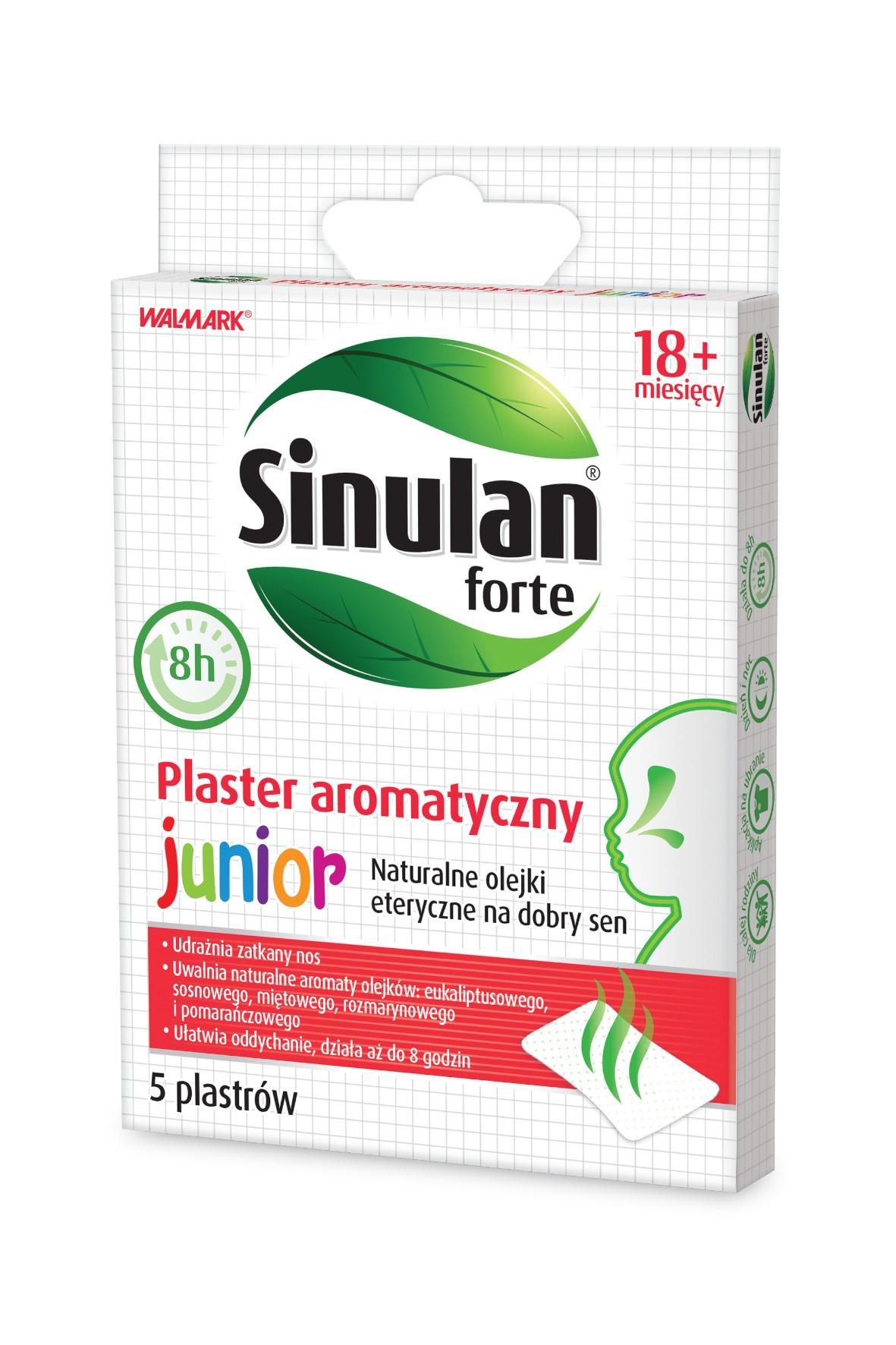 Sinulan forte aroma plaster wiek 18msc+- 5 sztuk
