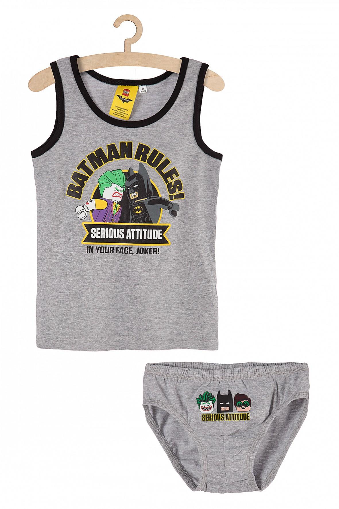 Chłopięcy komplet bieliźniany majtki i koszulka na ramiączkach Batman