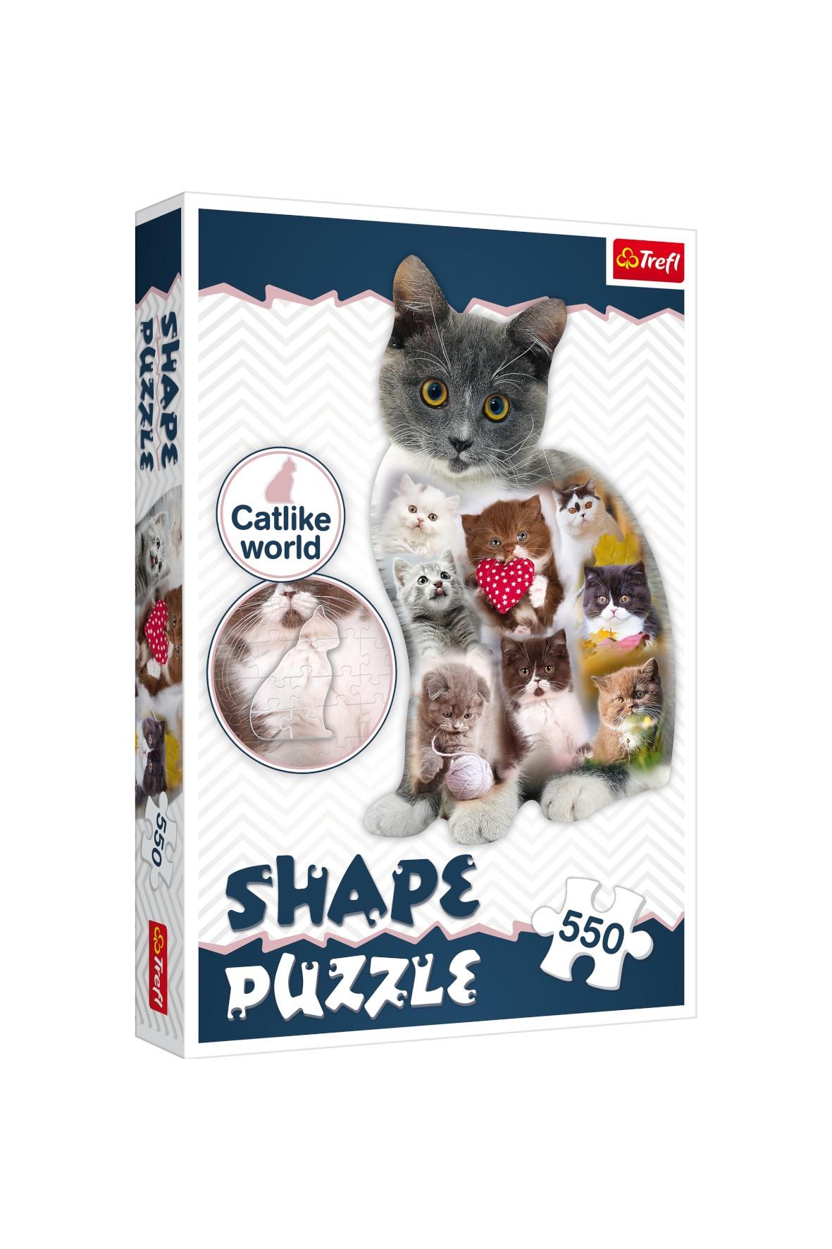 Puzzle Shapke 550 el. Kotek