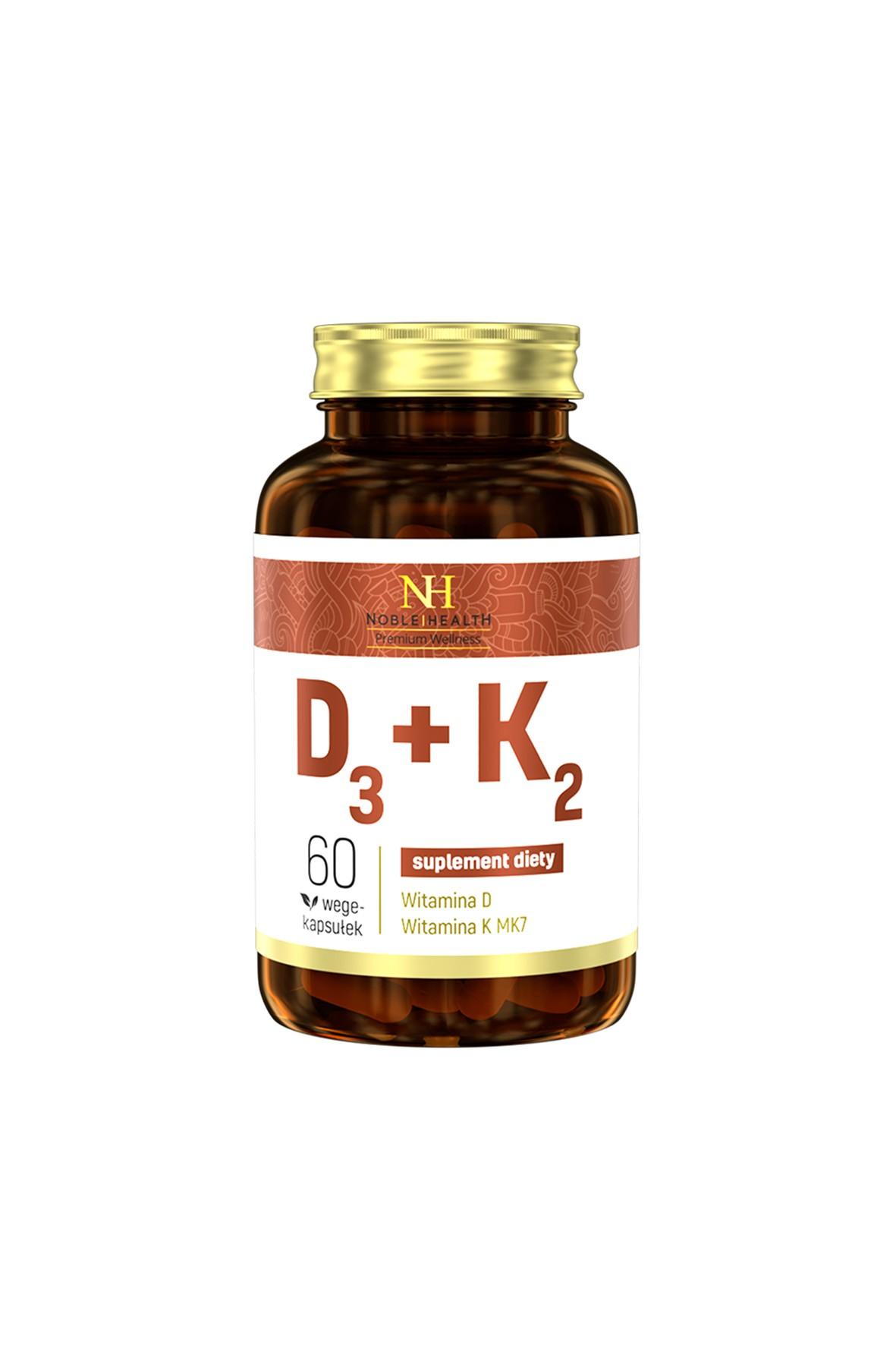 Witaminy D3+K2 Noble Health 60 kapsułek