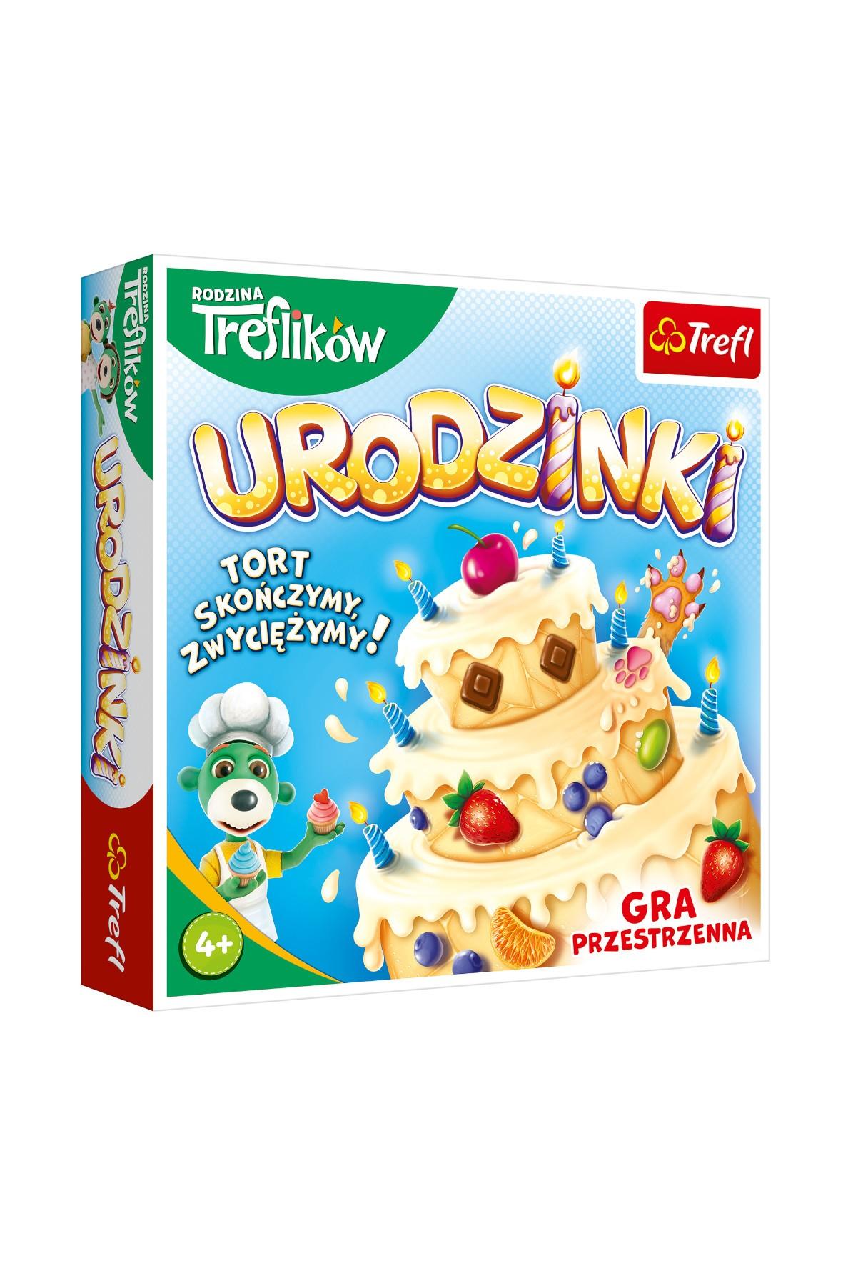 Gra planszowa - Urodzinki Rodzina Treflików wiek 4+