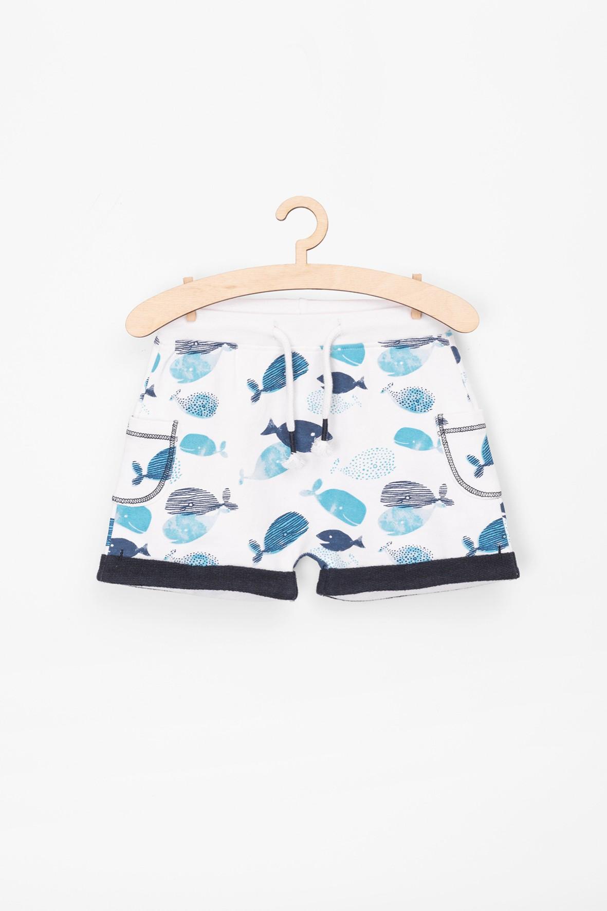 Szorty niemowlęce w niebieskie rybki