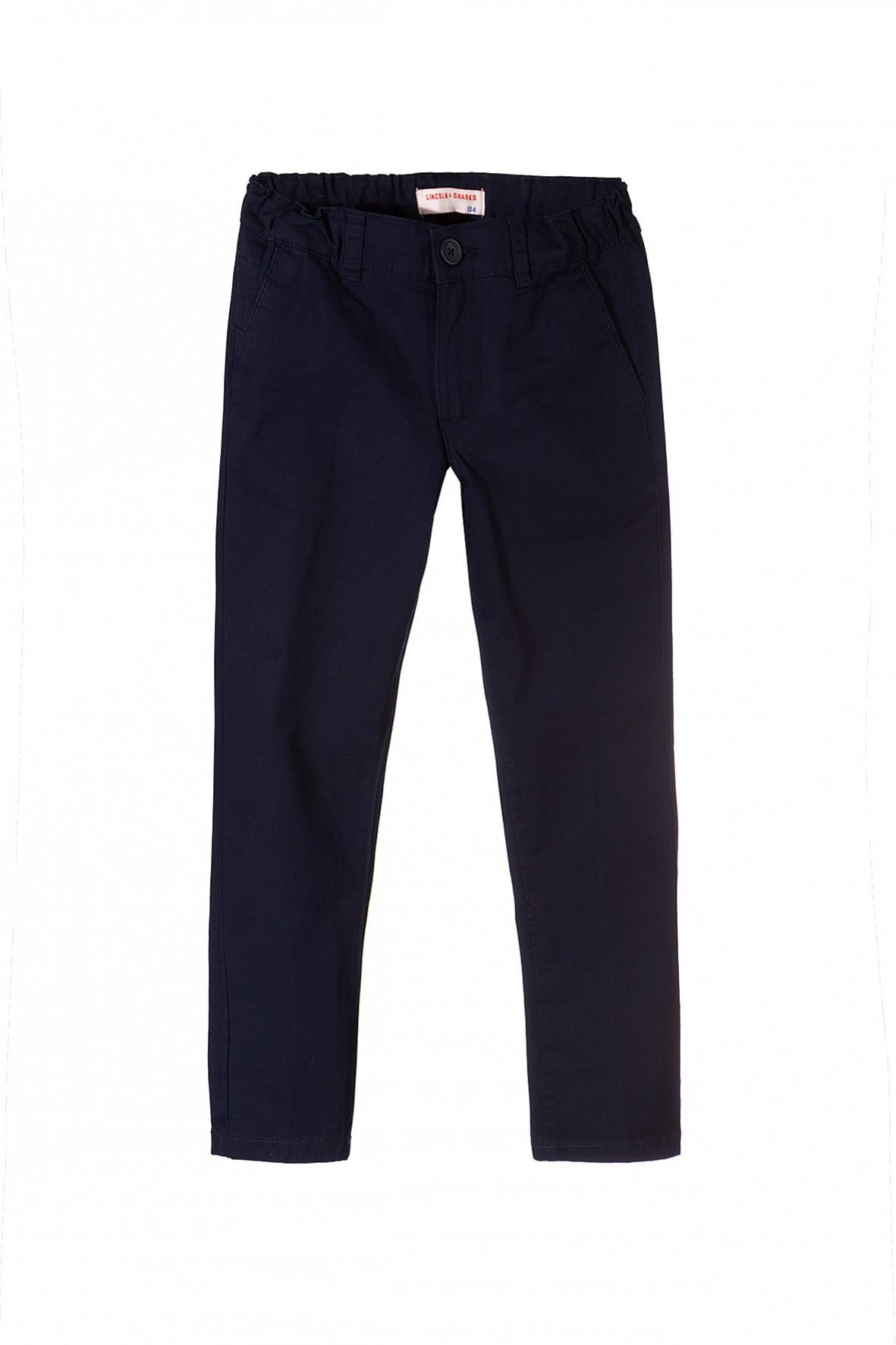 Granatowe eleganckie spodnie dla chłopca