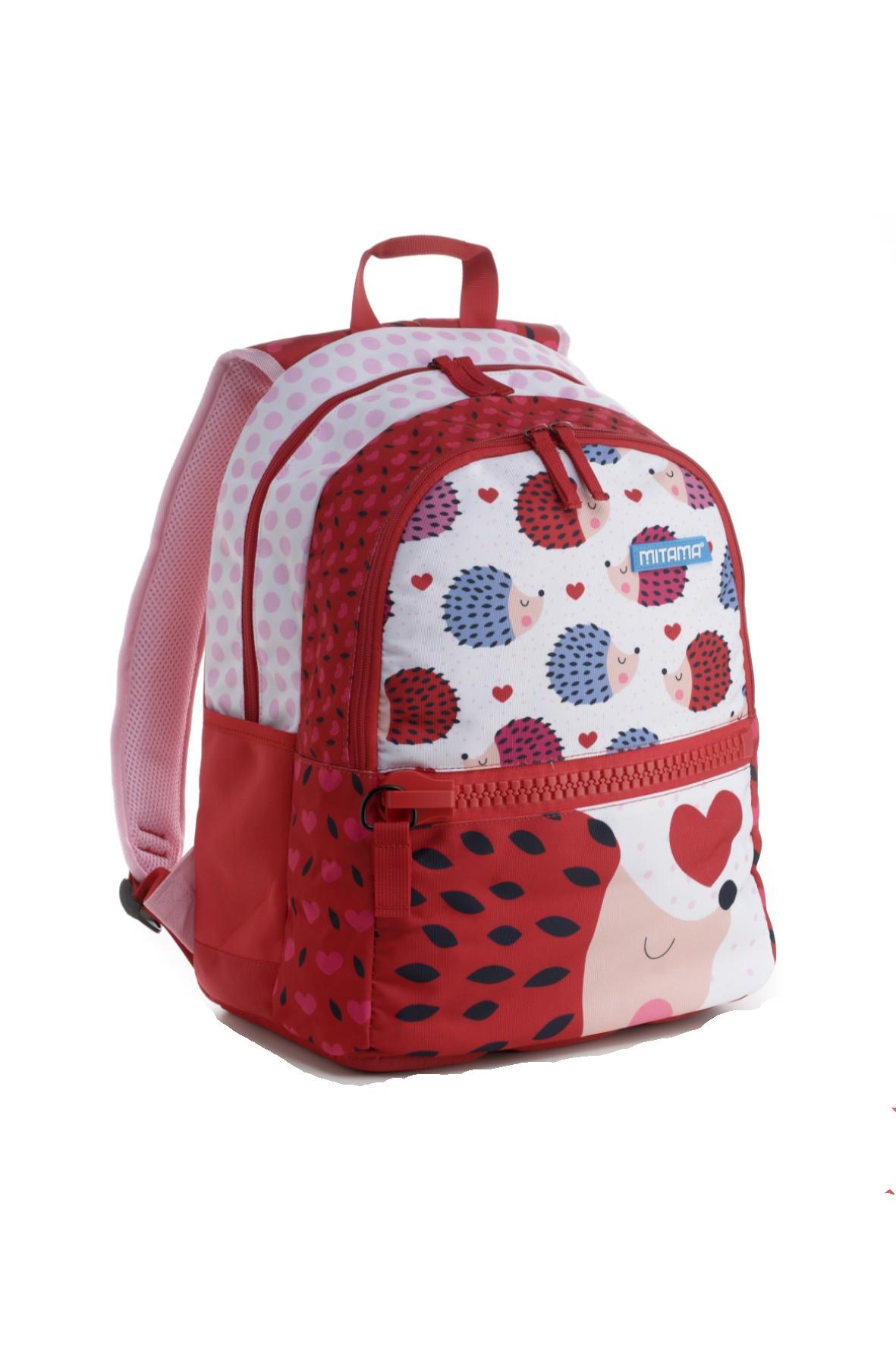 Plecak dziewczęcy szkolny  - w jeżyki