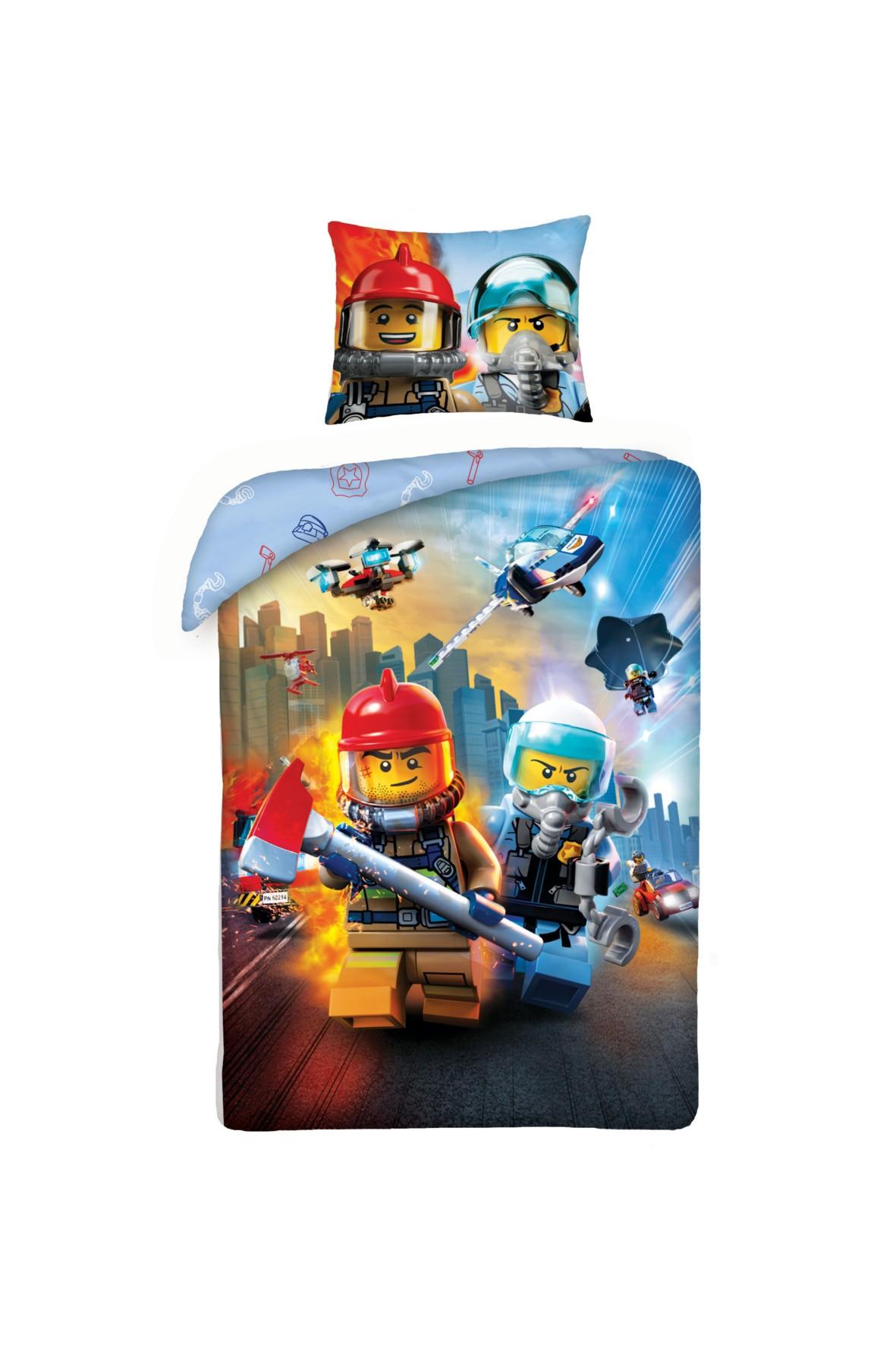 Pościel chłopięca Lego 140x200cm+70x90cm
