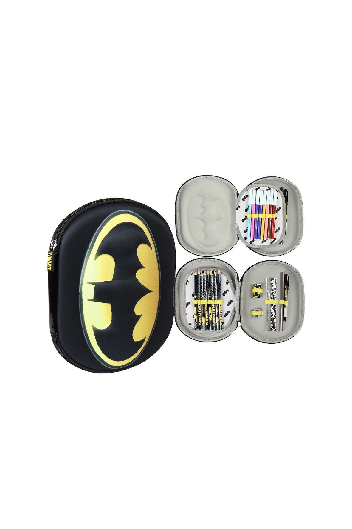Piórnik 3D z wyposażeniem Batman