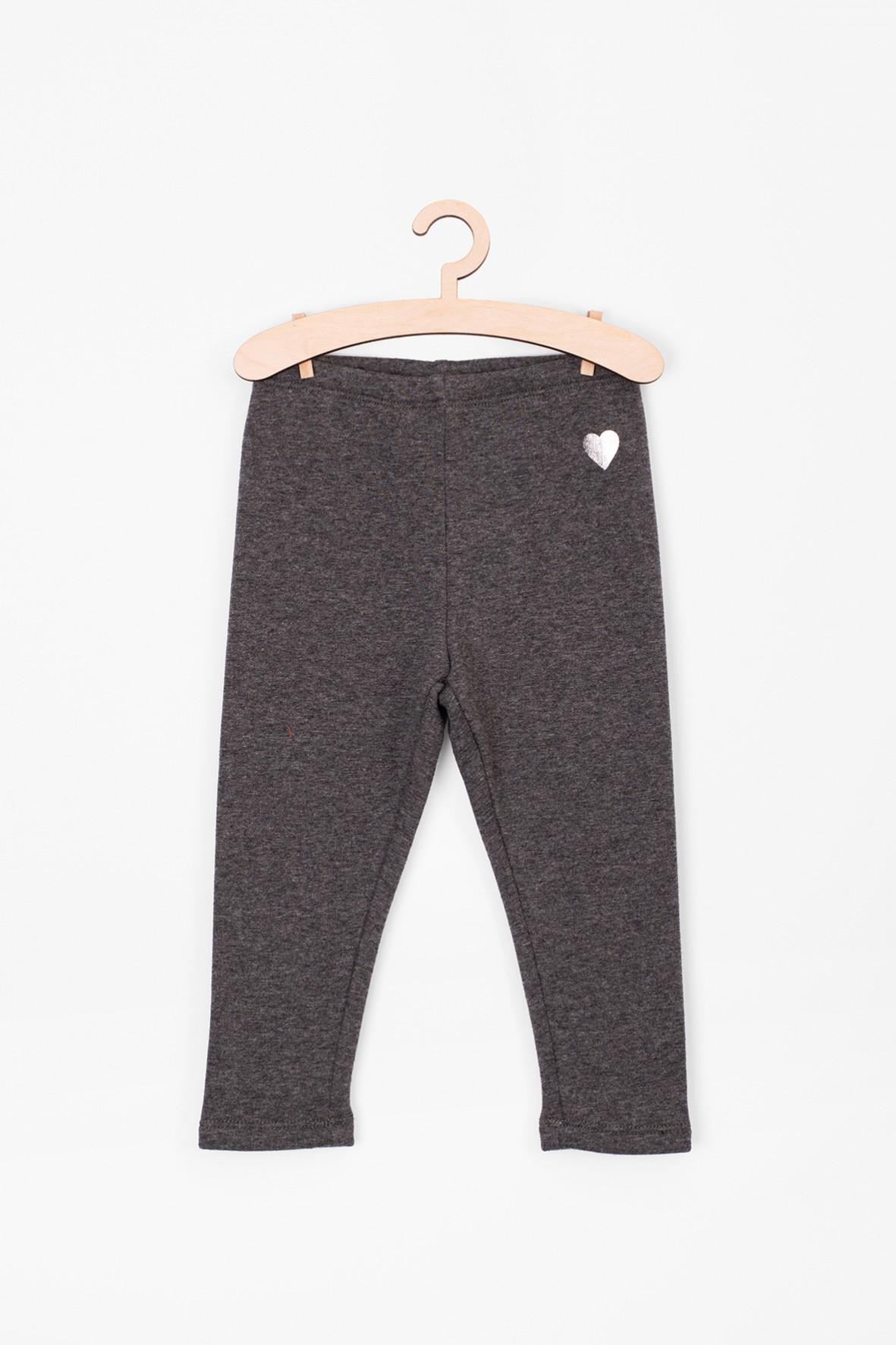 Leginsy dla niemowlaka- szare ocieplane