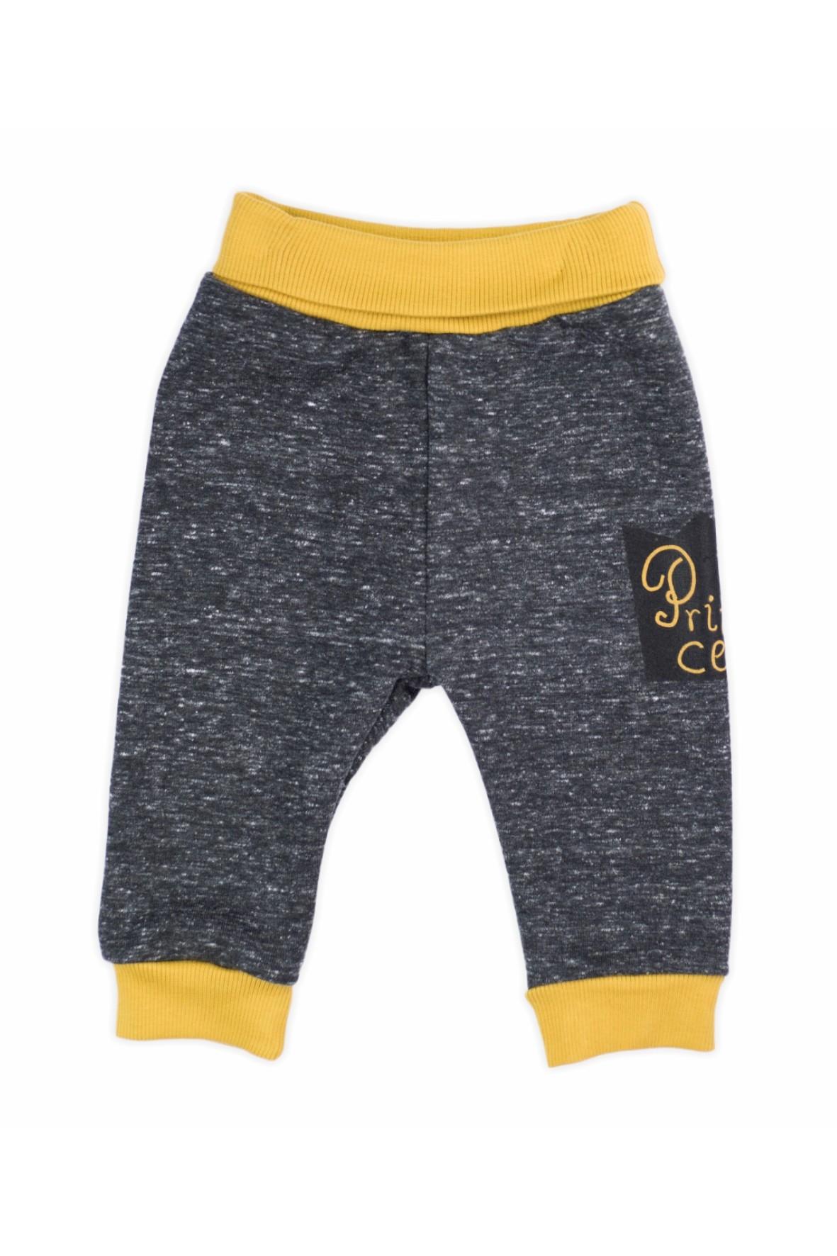 Spodnie dresowe niemowlęce- grafitowe Prince