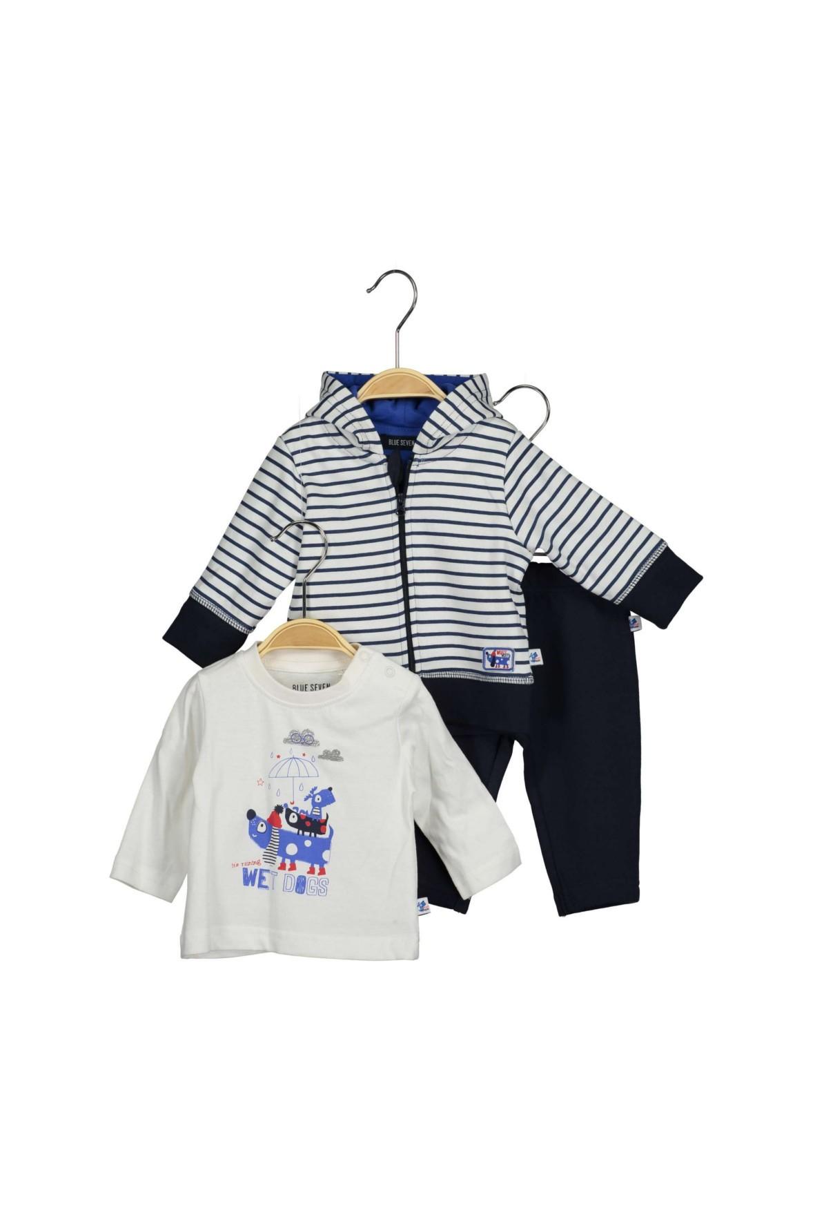Komplet niemowlęcy bluzka bluza dresowa i spodnie