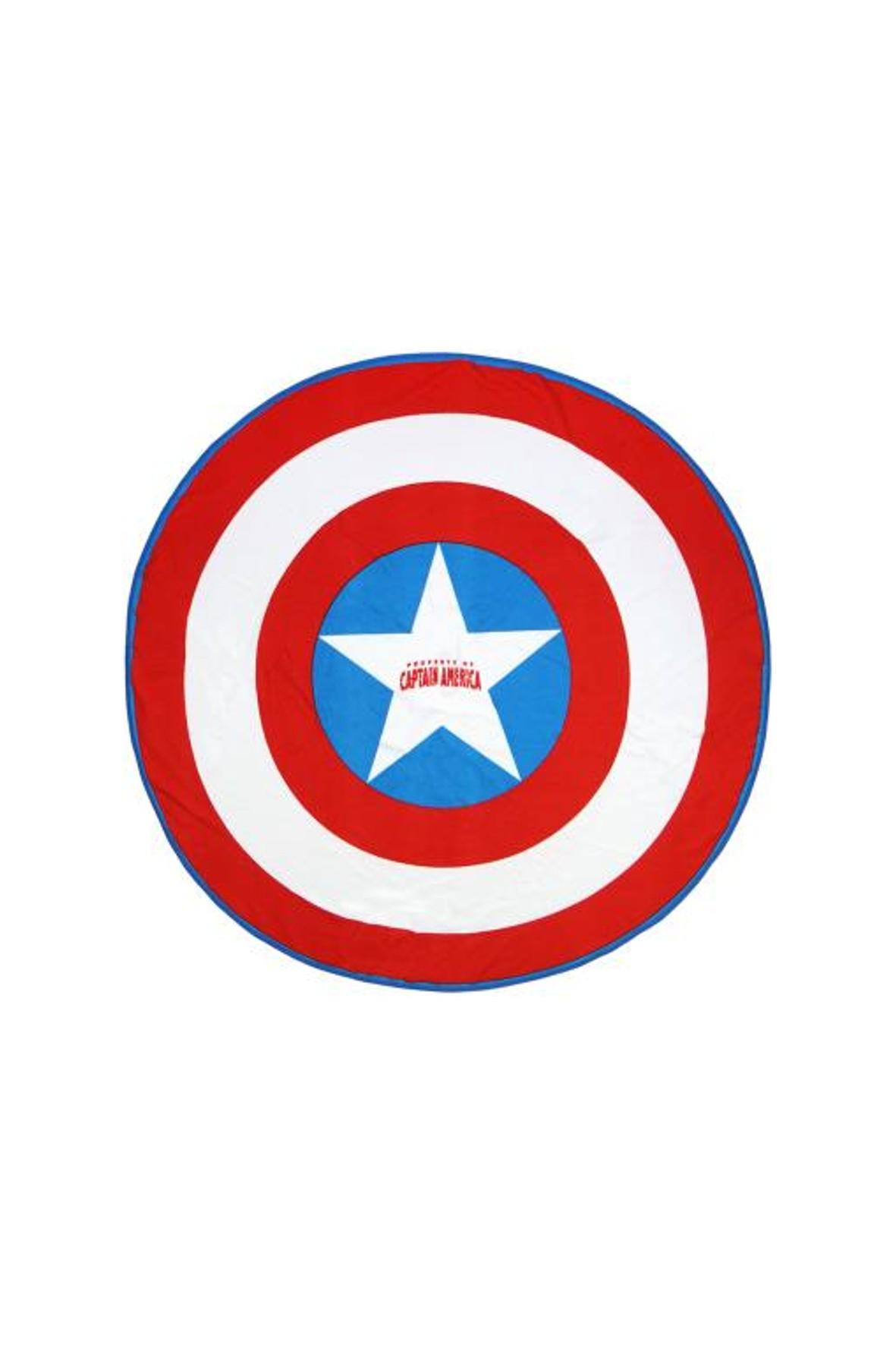 Okrągły ręcznik kąpielowy dla dziecka Kapitan Ameryka