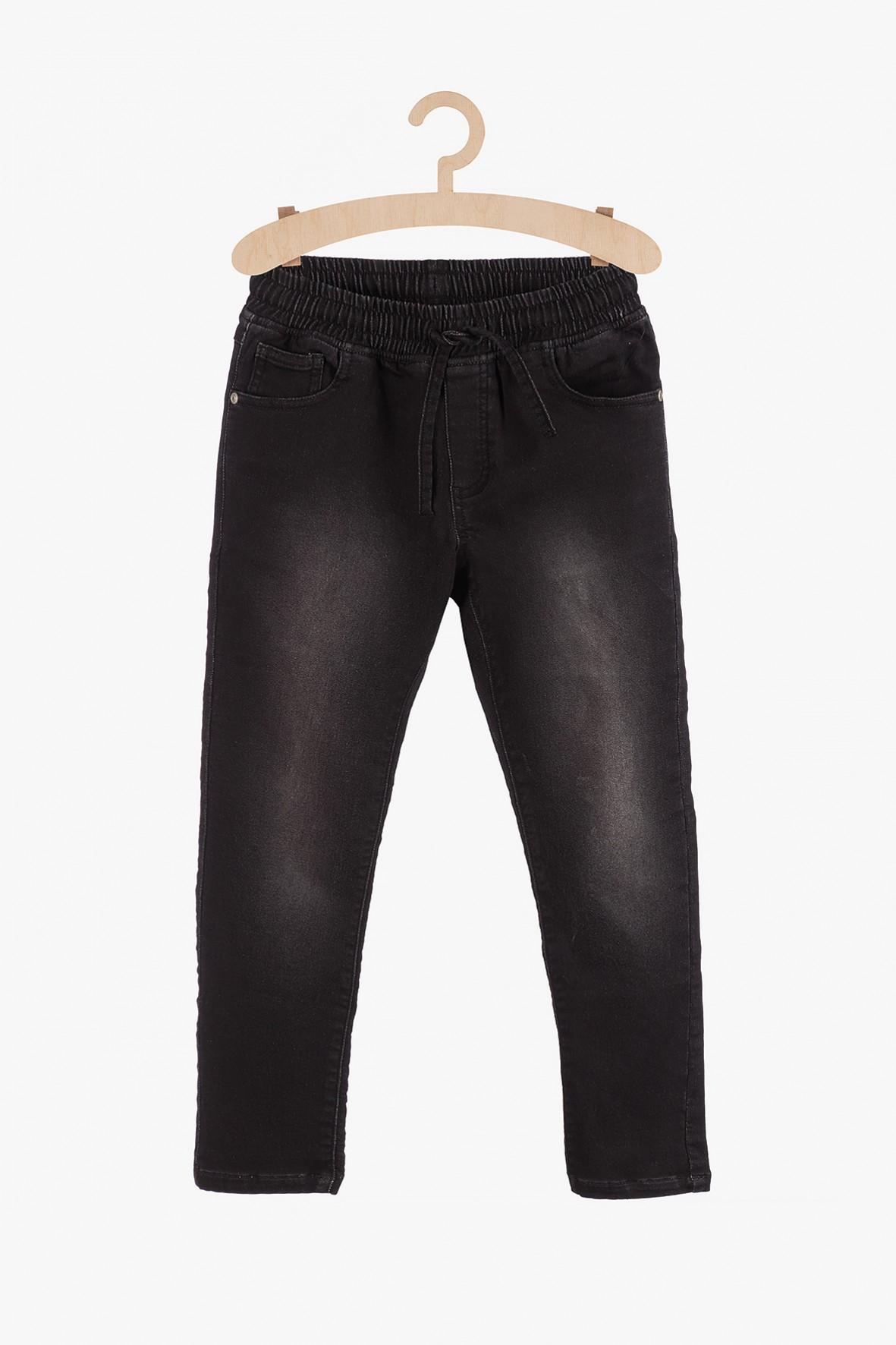 Spodnie chłopięce chinosy- czarne z przetarciami
