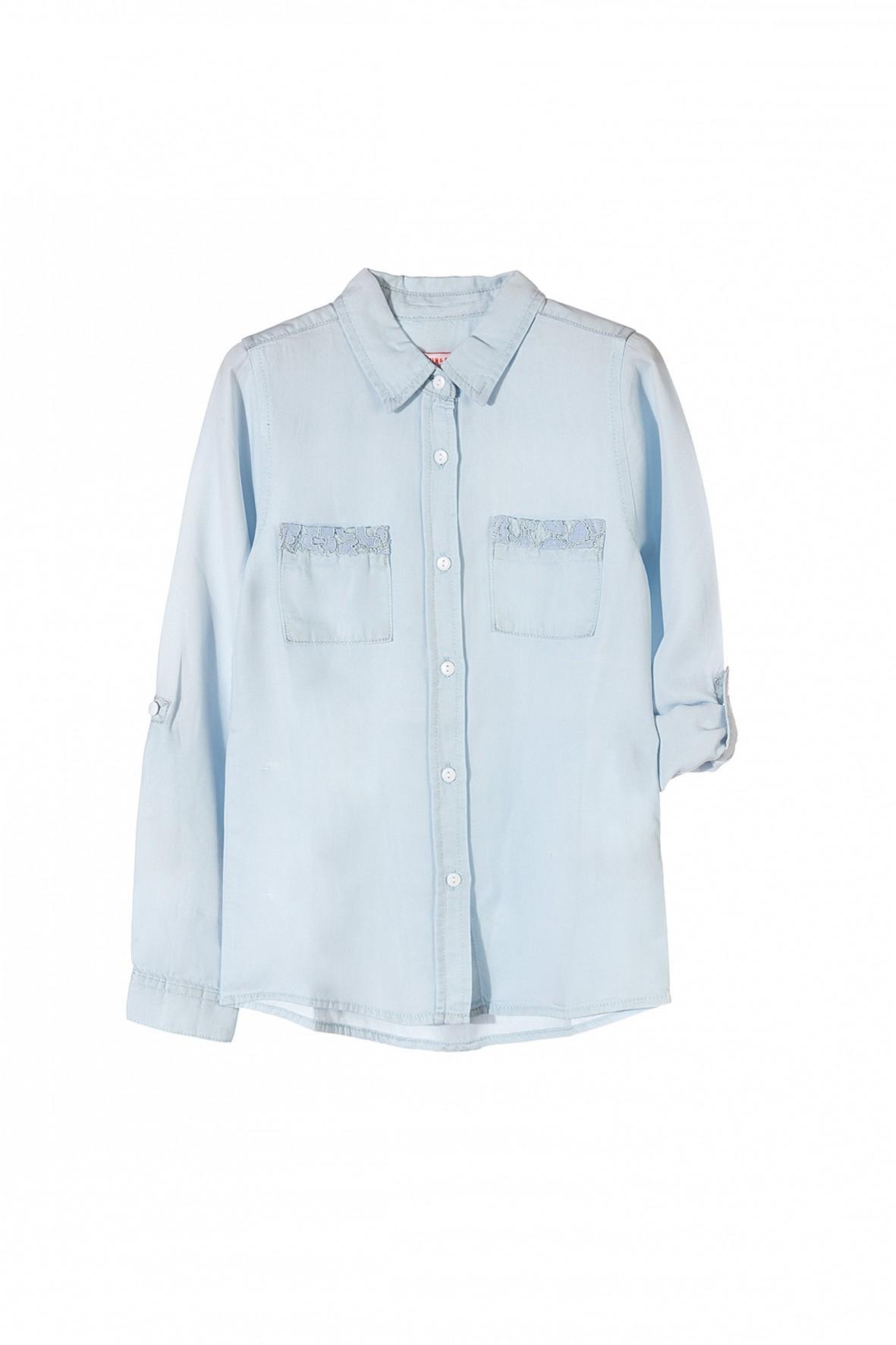 4f40f19ddb Niebieska sportowa koszula dla dziewczynki dostępna w rozmiarach 134-164