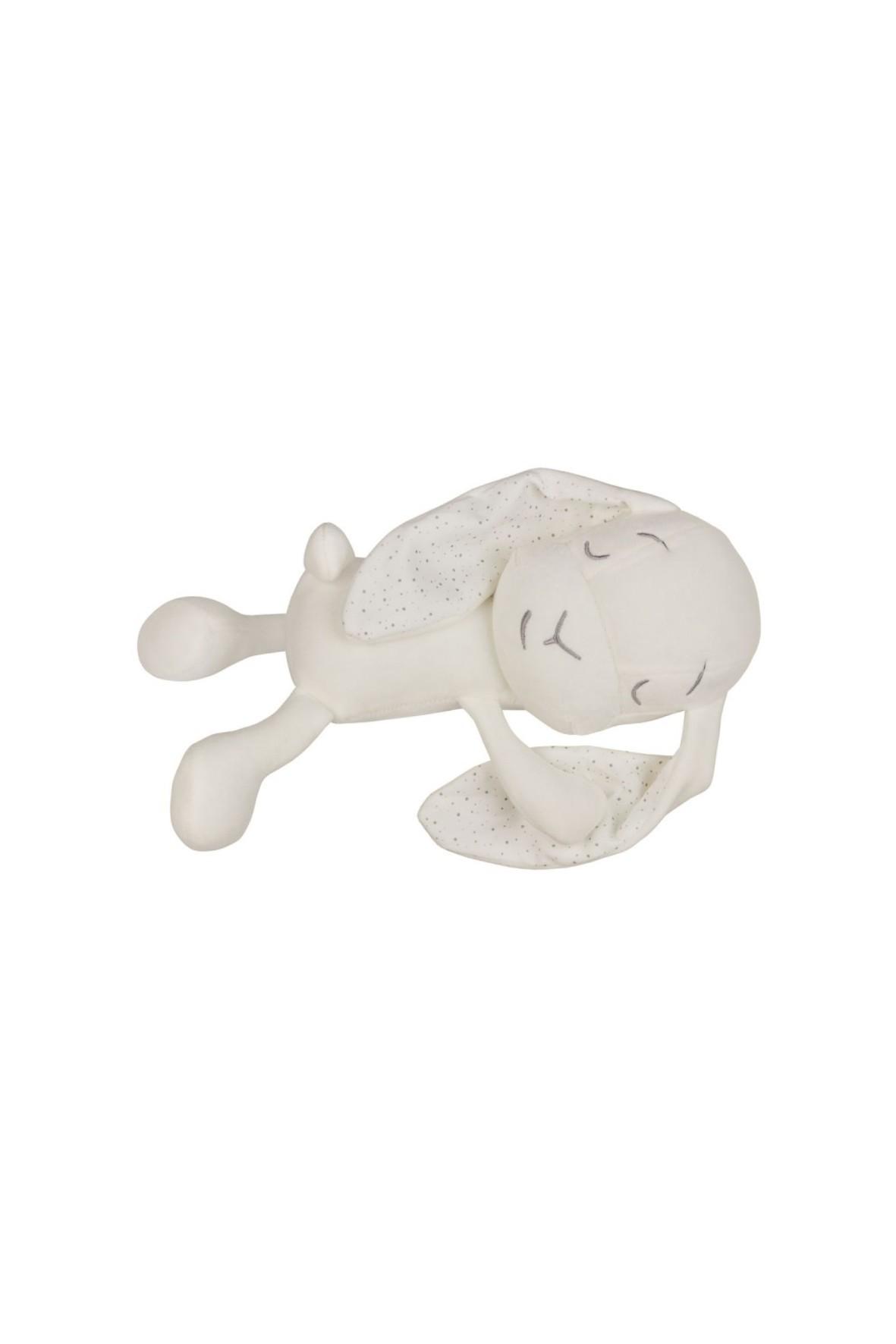 Lawendowy Śpioch - królik Effik by Małgosia Socha biały w kropki