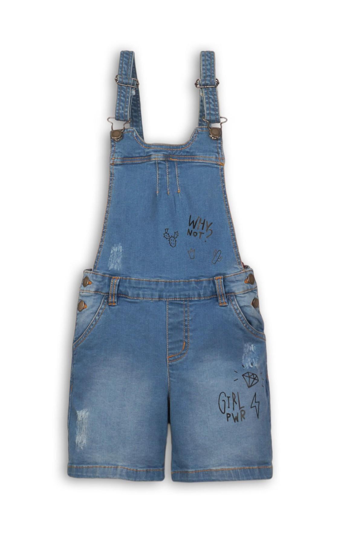 Jeansowe ogrodniczki dla dziewczynki