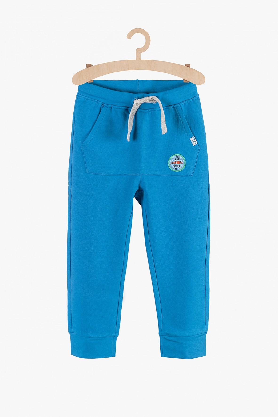 Dresowe spodnie dla chłopca- niebieskie