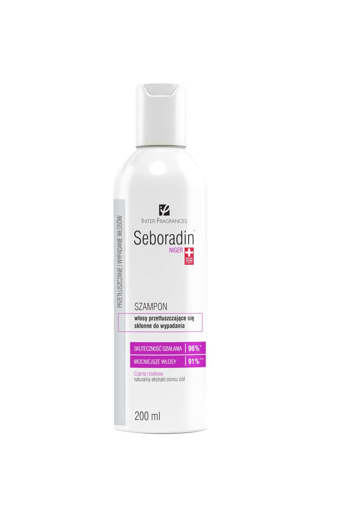 Seboradin Niger szampon włosy przetłuszczające ze skłonnością do wypadania - 200ml