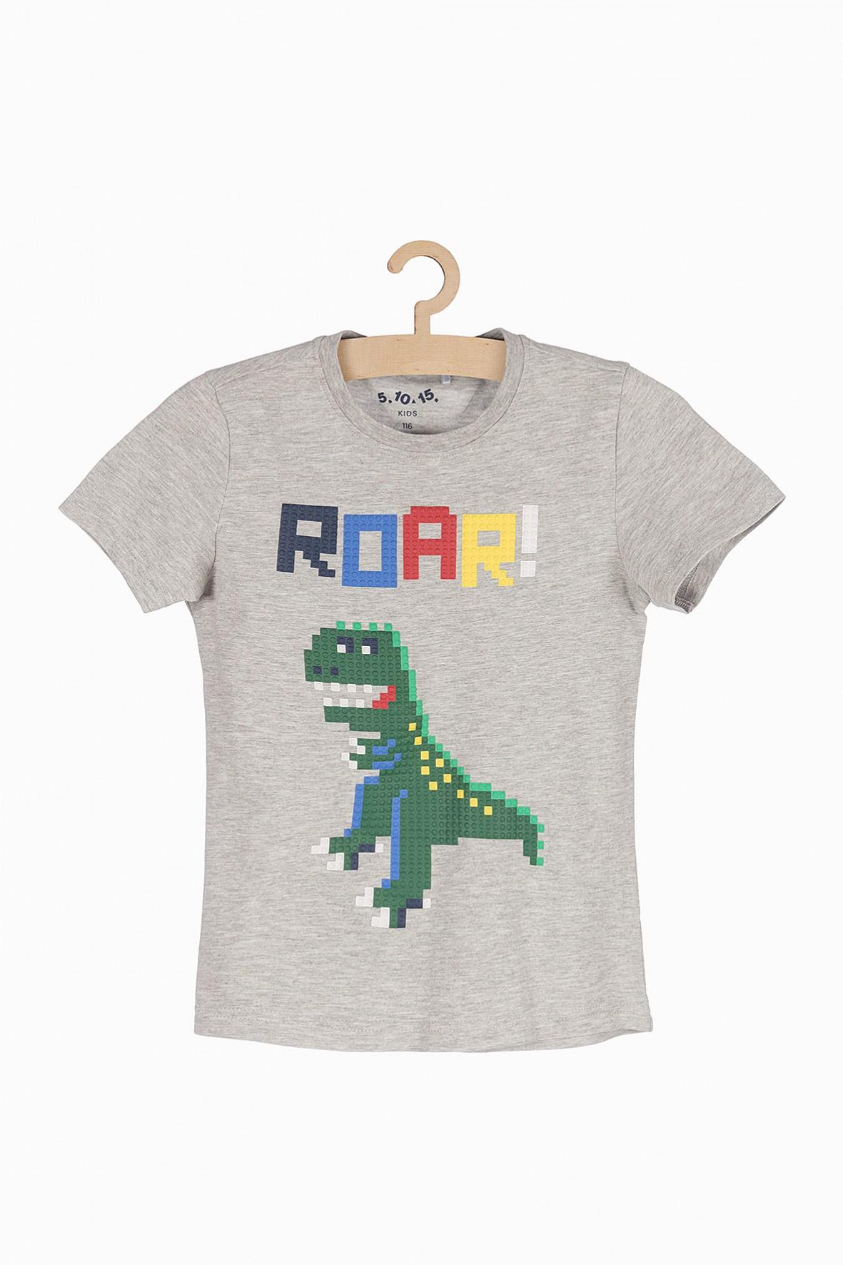 T-shirt chłopięcy z dinozaurem