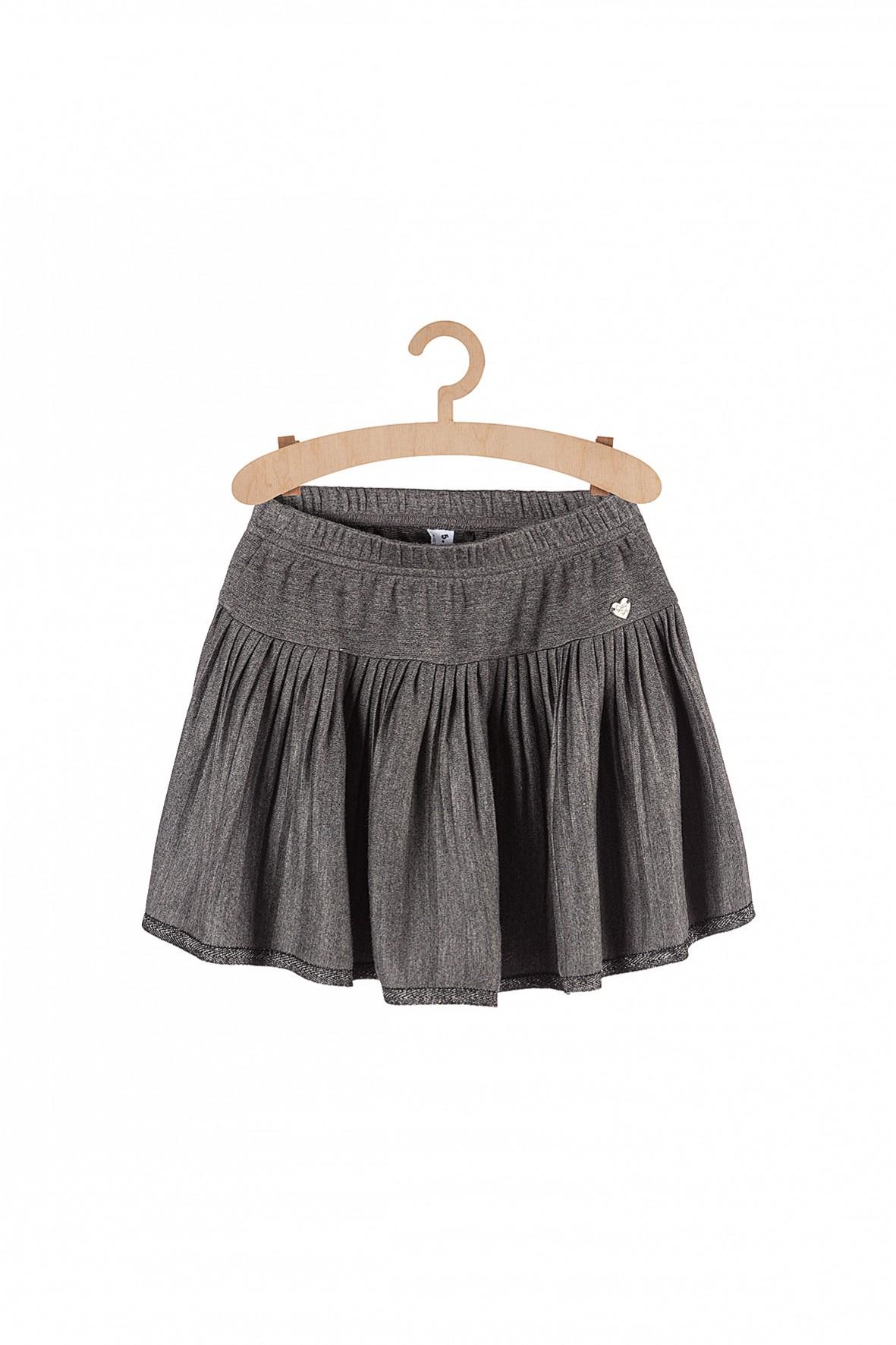 Elegancka spódniczka dla dziewczynki-szara plisowana