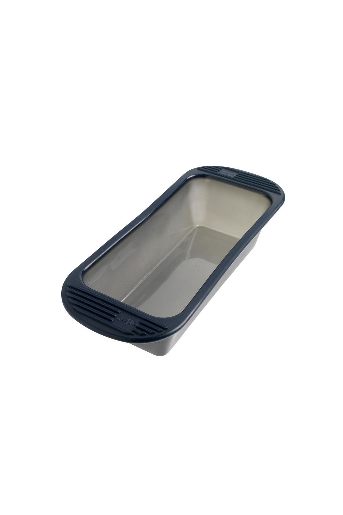 Silikonowa forma podłużna do ciasta, keksówka - ciemnoszara 33x12cm