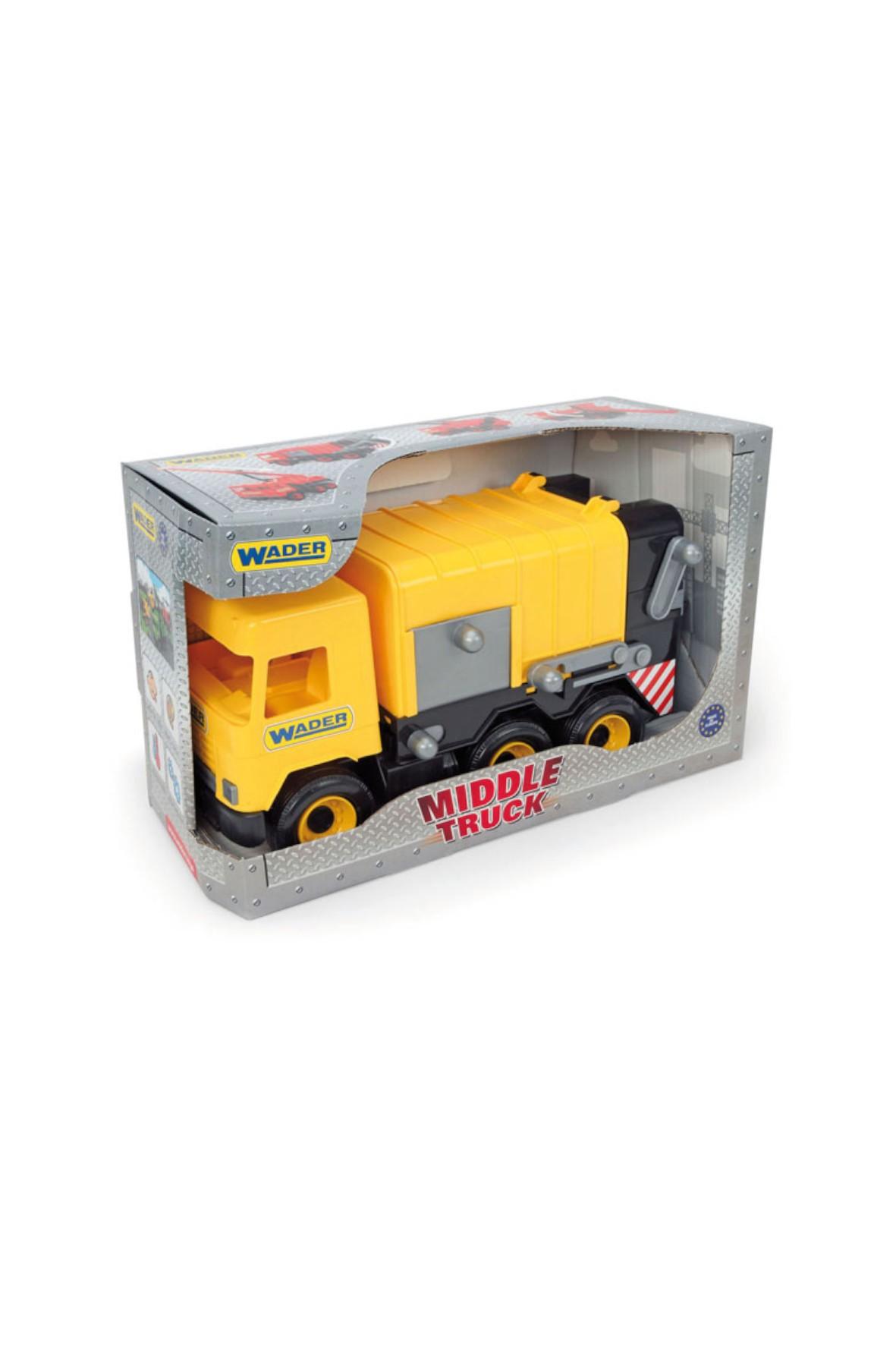 Middle Truck śmieciarka żółta