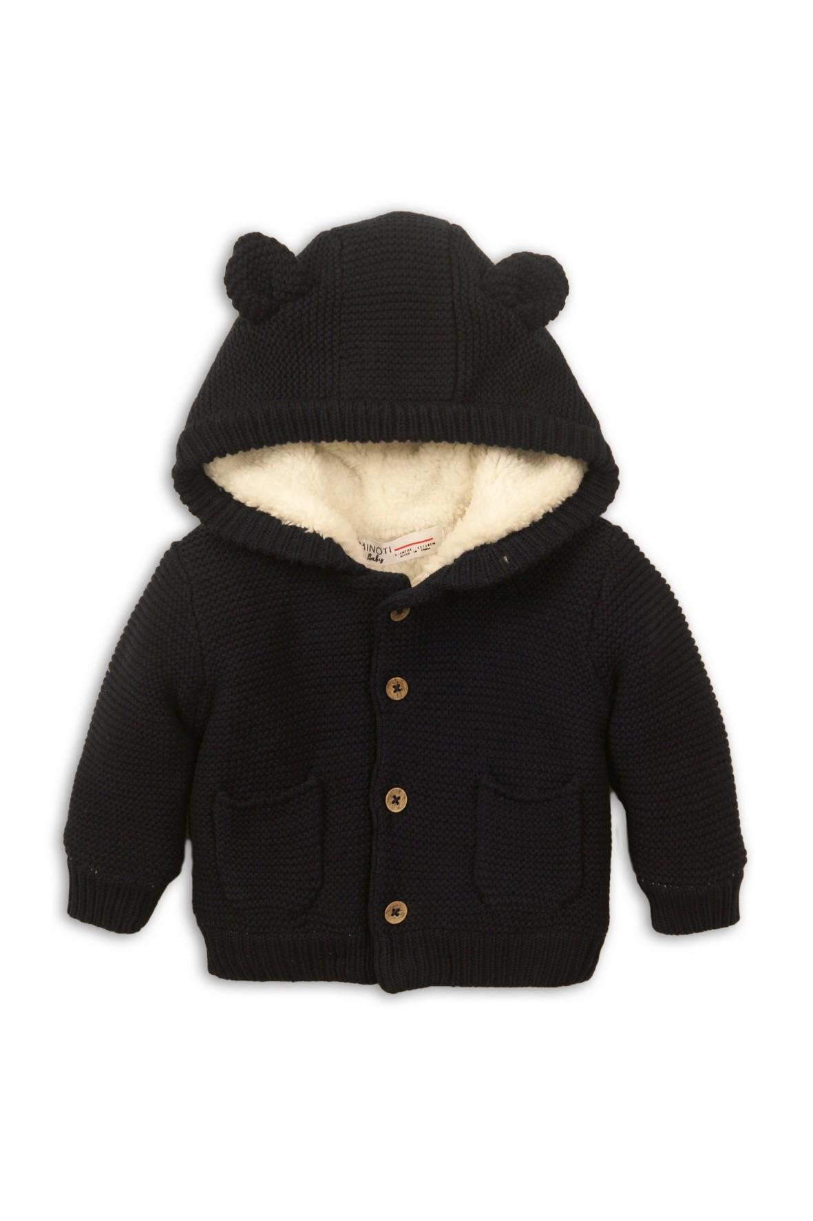 Sweter niemowlęcy ocieplany z kapturem