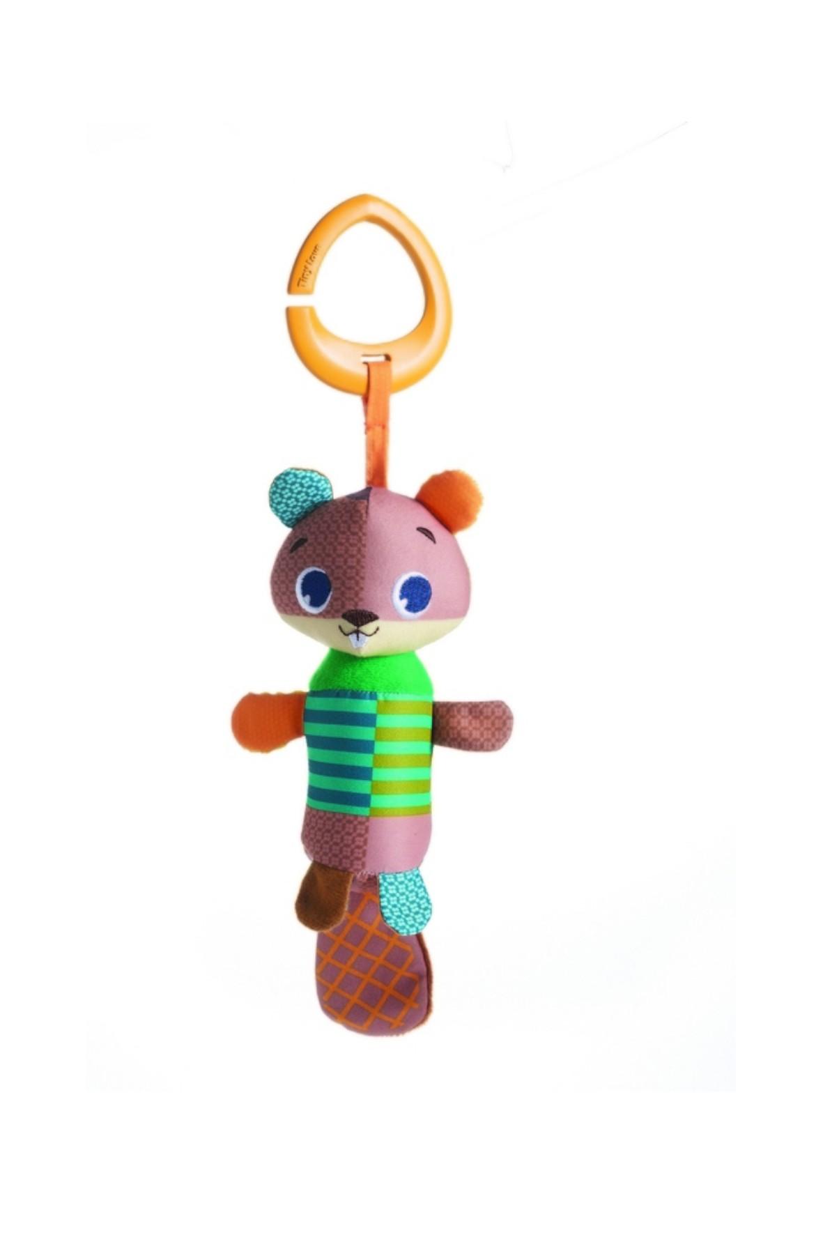 Zawieszka z grzechotką  Tiny Smarts dzwoneczek - Bóbr Albert 0msc+