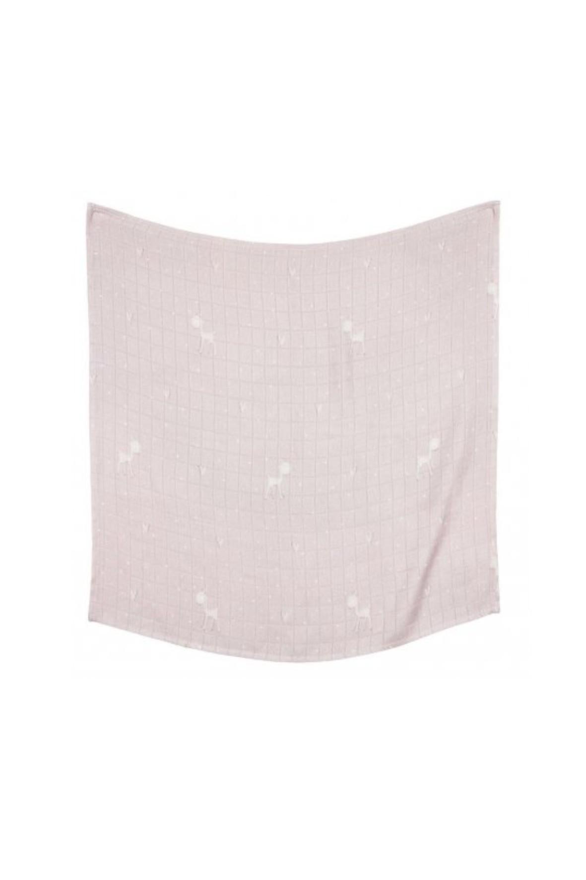 Otulacz bambusowy różowy sarenki