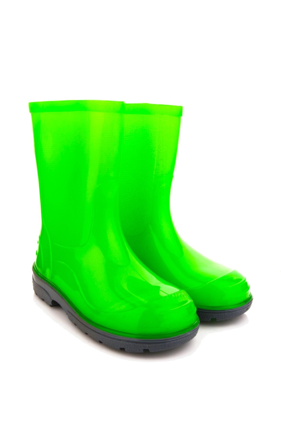 Kalosze dla dziecka- fluo zielone