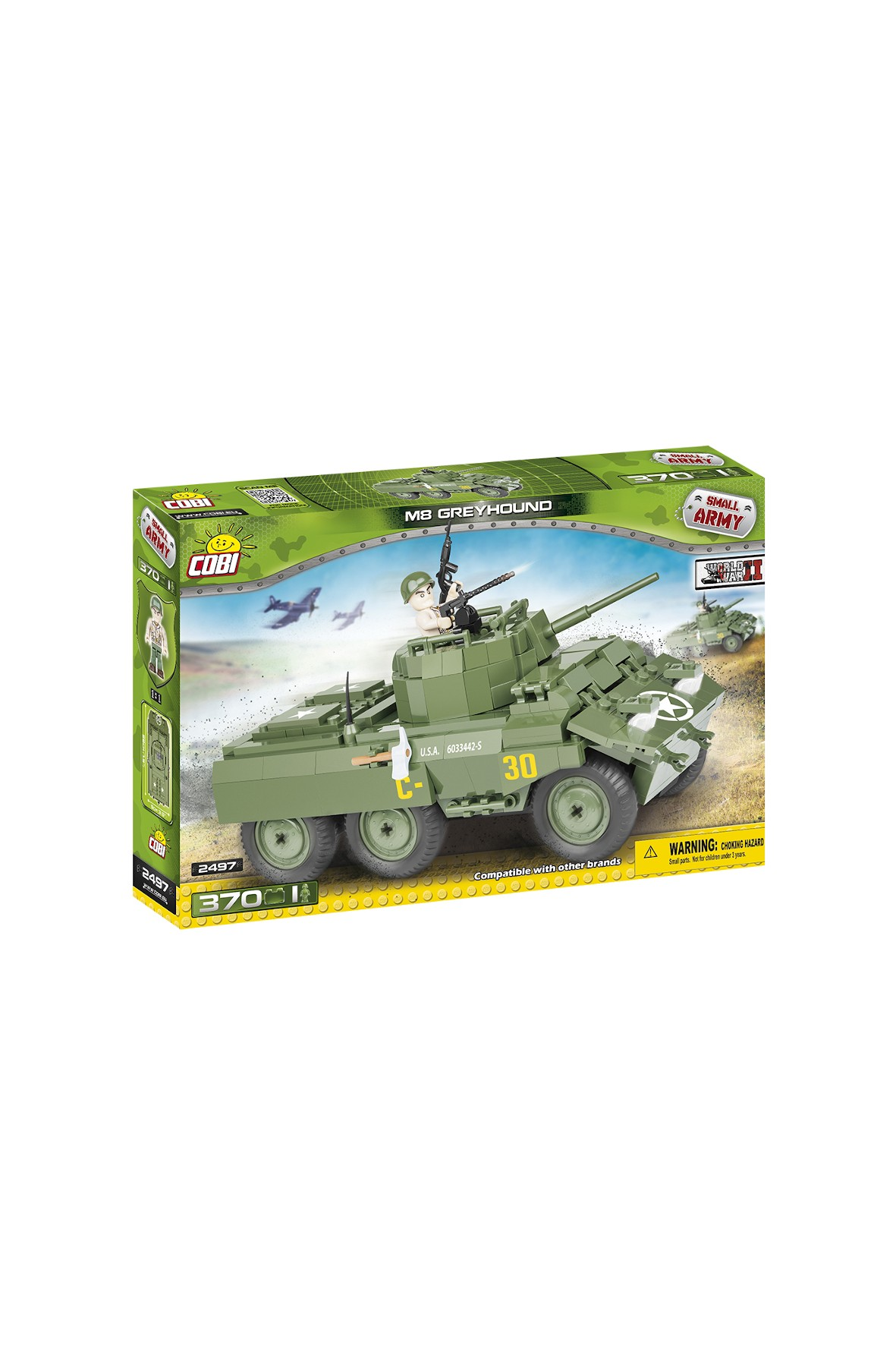 Klocki Cobi Small Army M8 GREYHOUND 370el