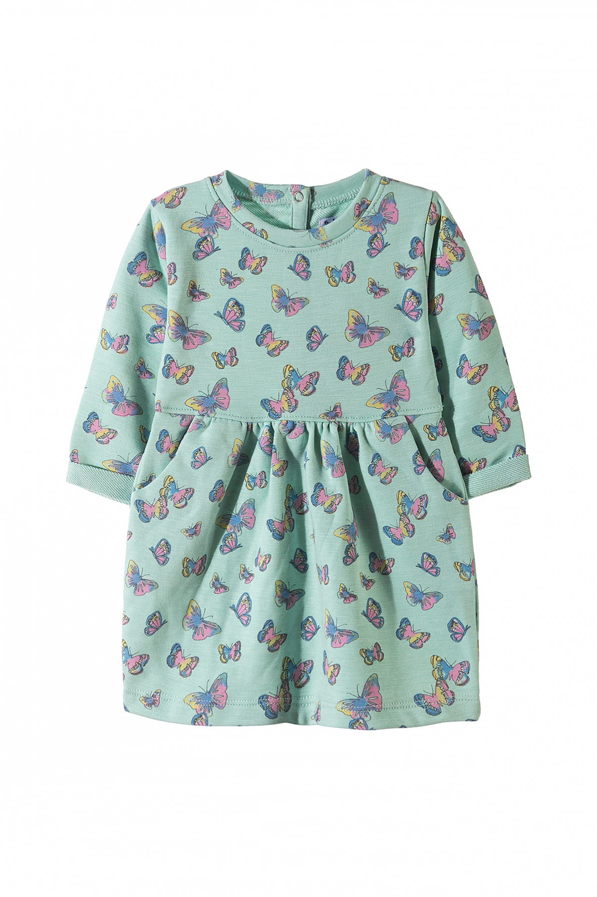 Sukienka dziewczęca dzianinowa w motyle