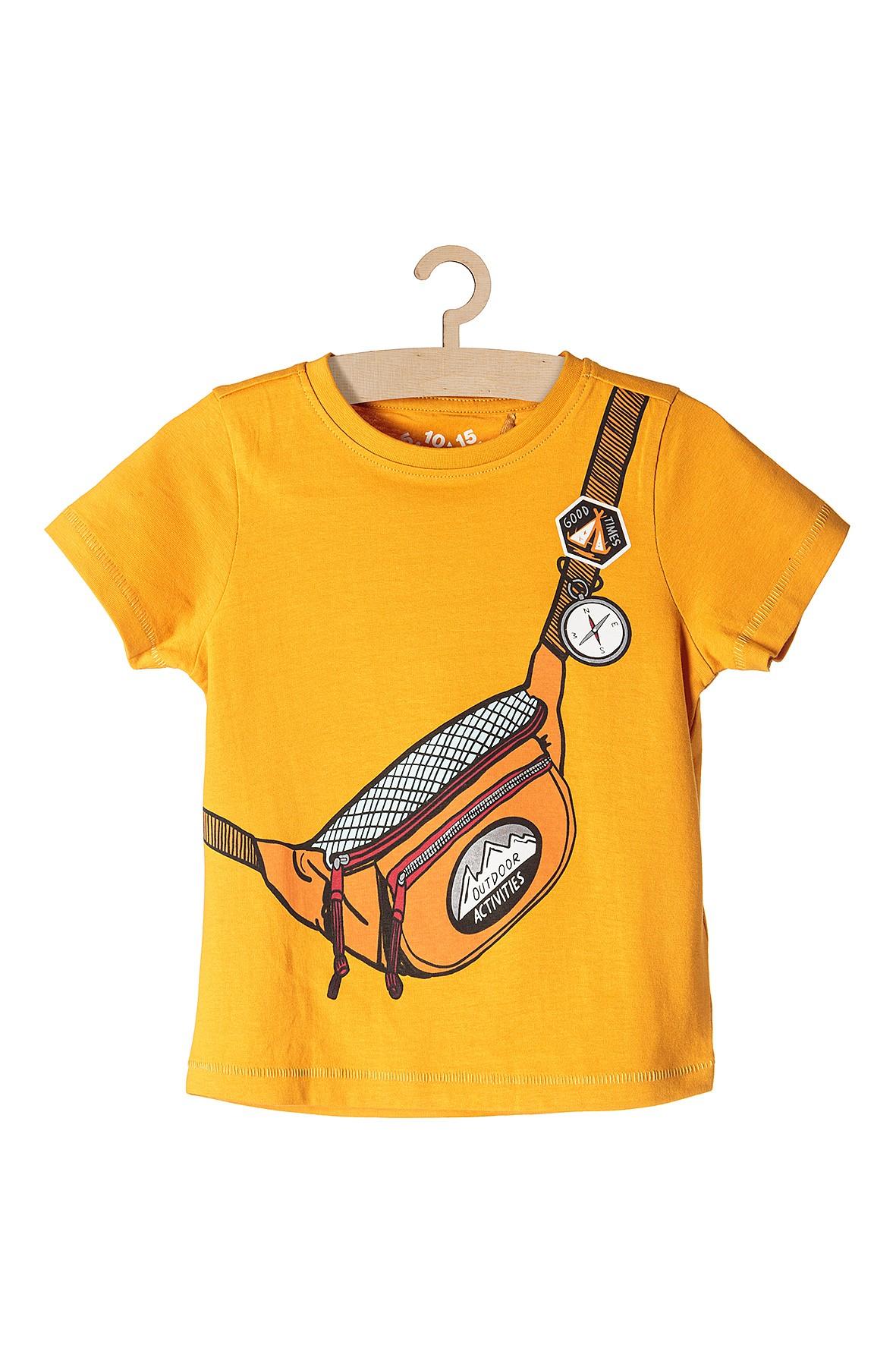 Koszulka chłopięca żółta z imitacja nerki