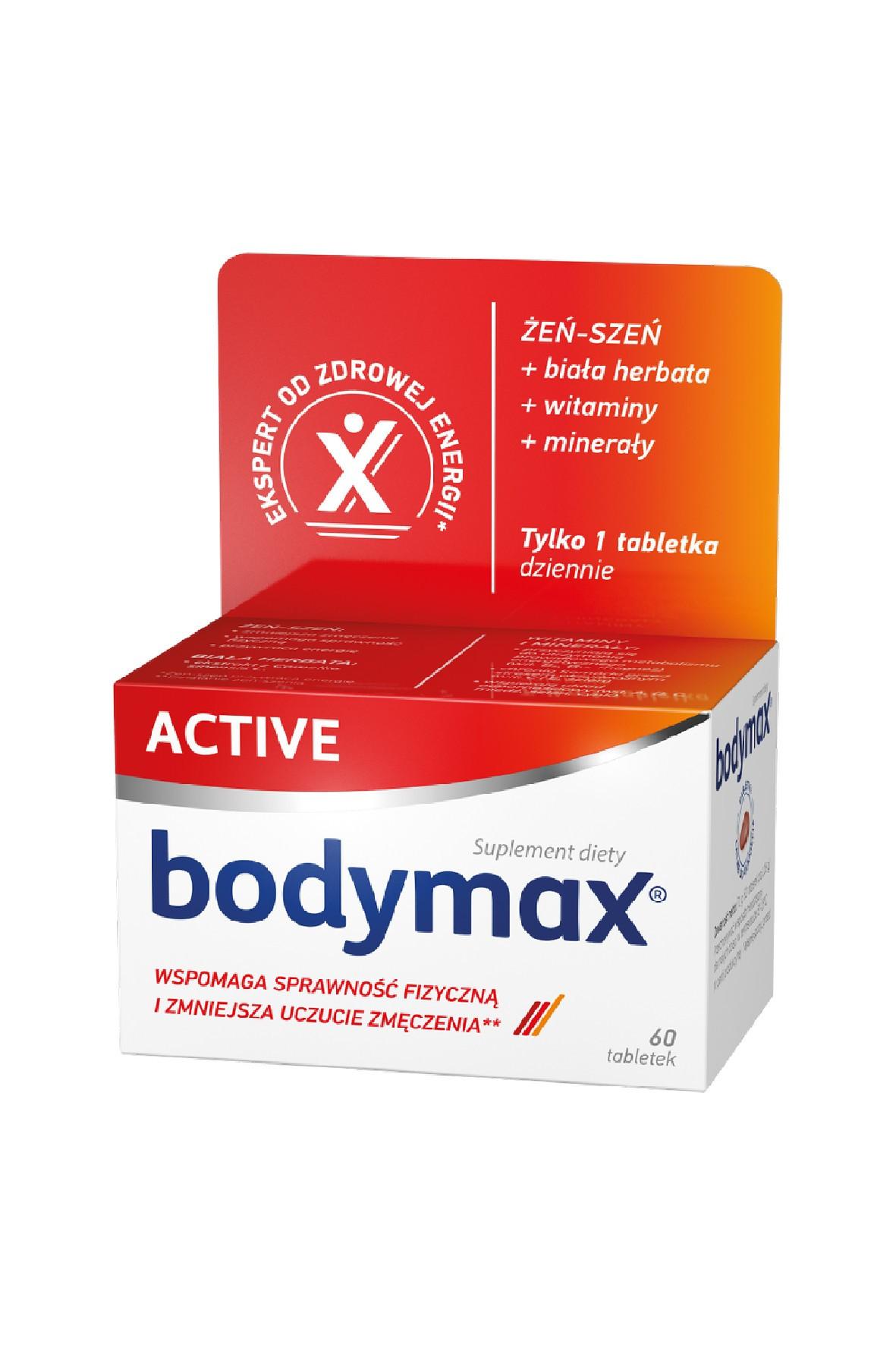Bodymax Active dla osób aktywnie fizycznych 60 tabletek