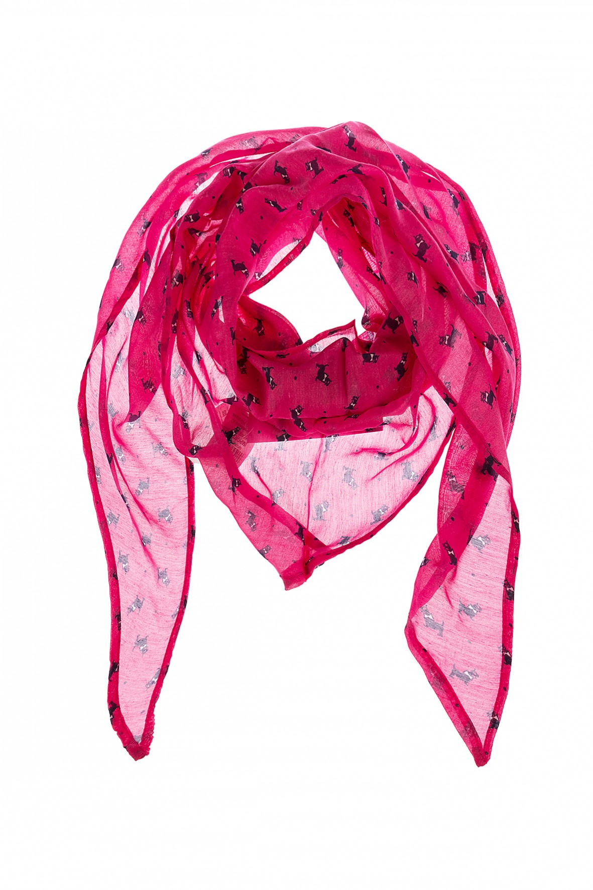 Różowa chustka dziewczęca pod szyję w pieski