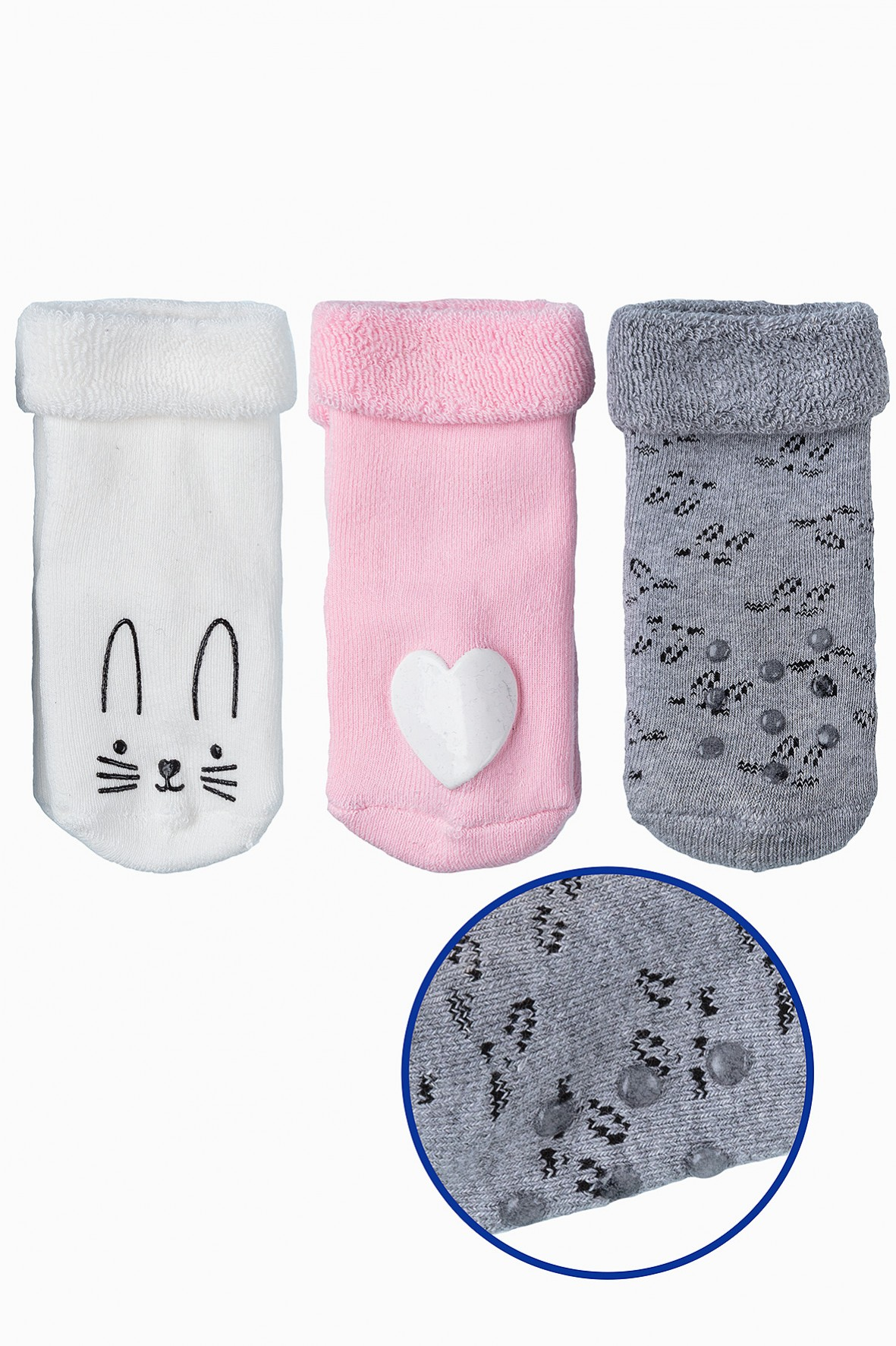 Ciepłe skarpetki dla niemowlaka 3pak